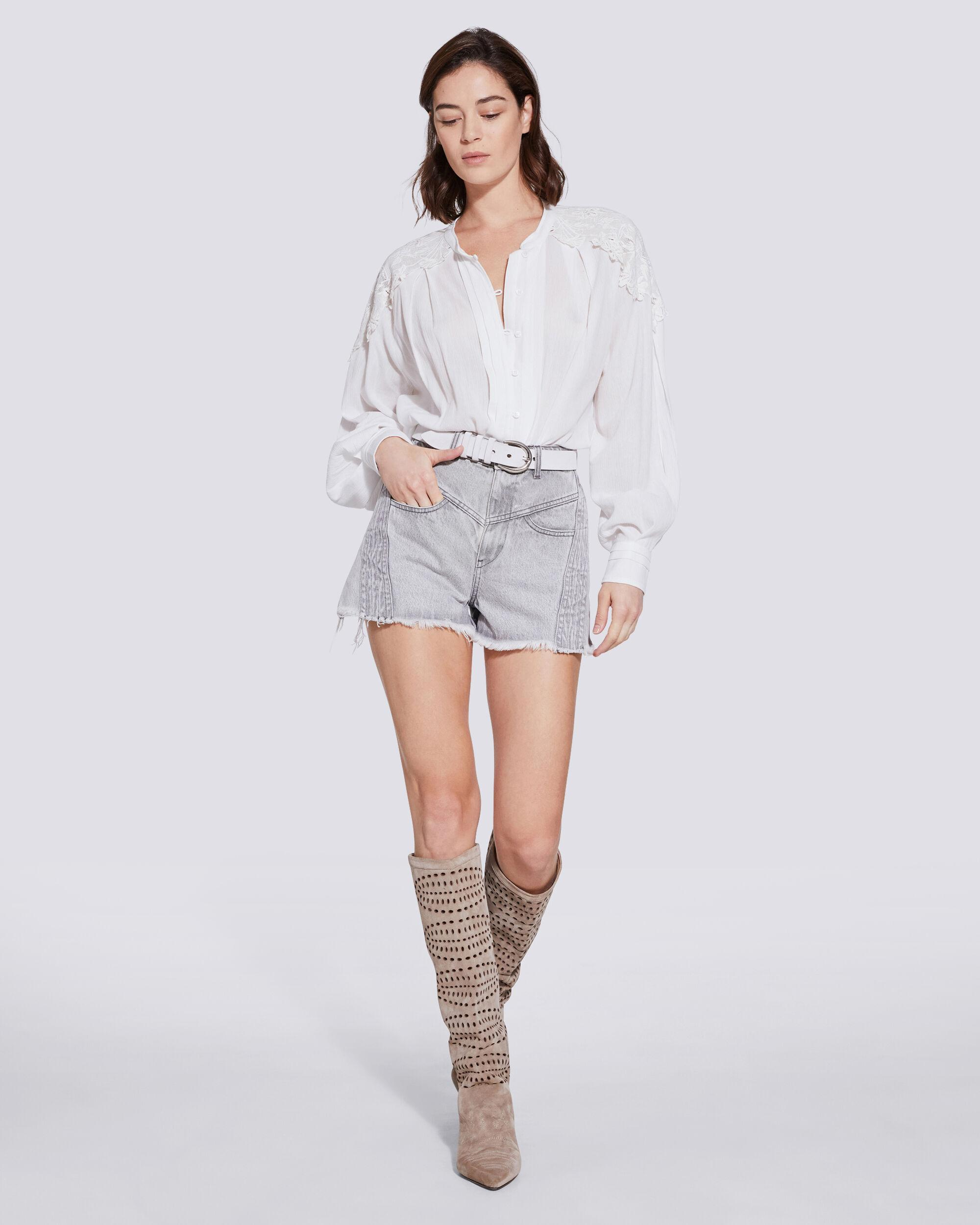 CALISTO LACE BUTTON UP SHIRT 1