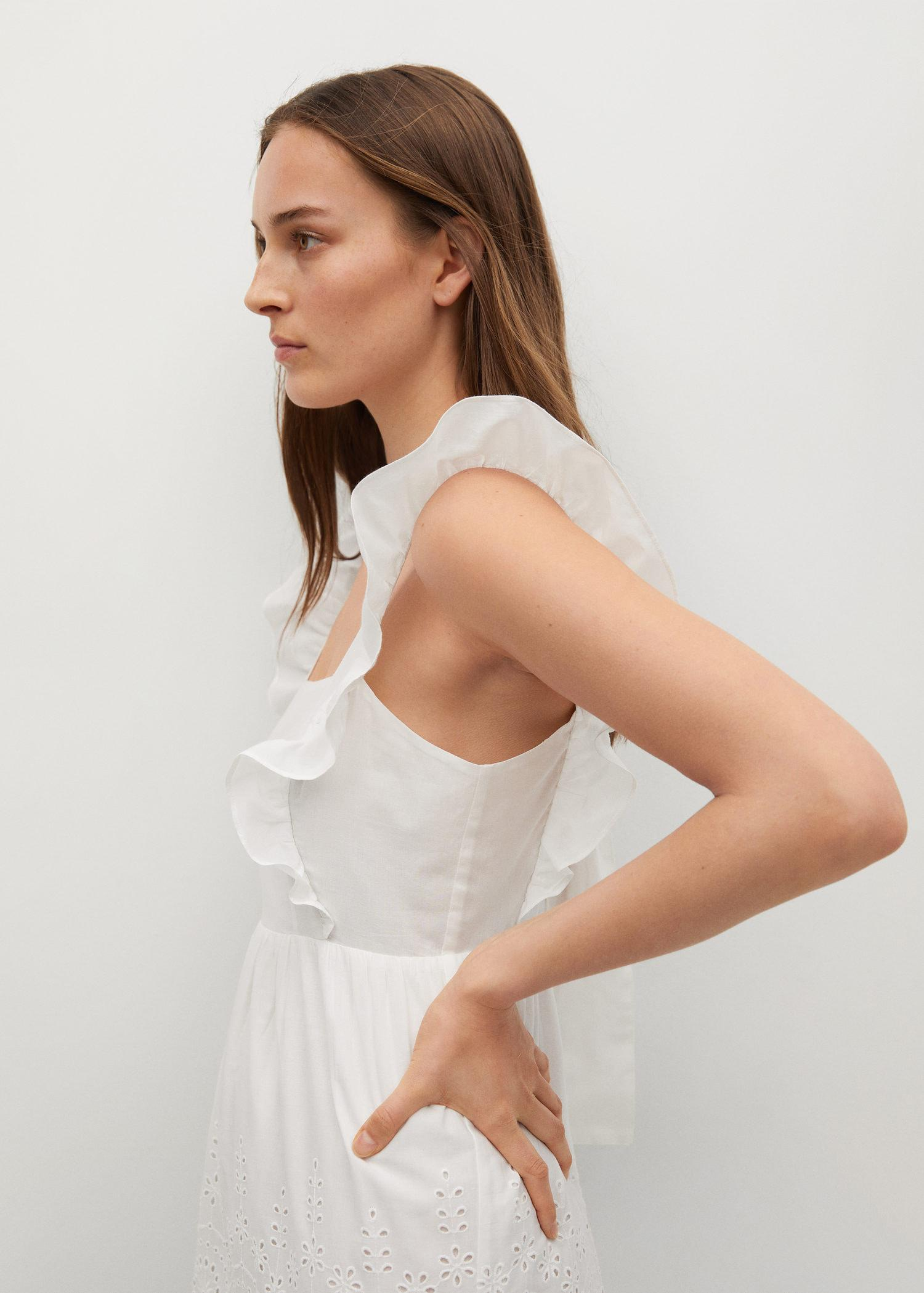 Broderie anglaise cotton dress