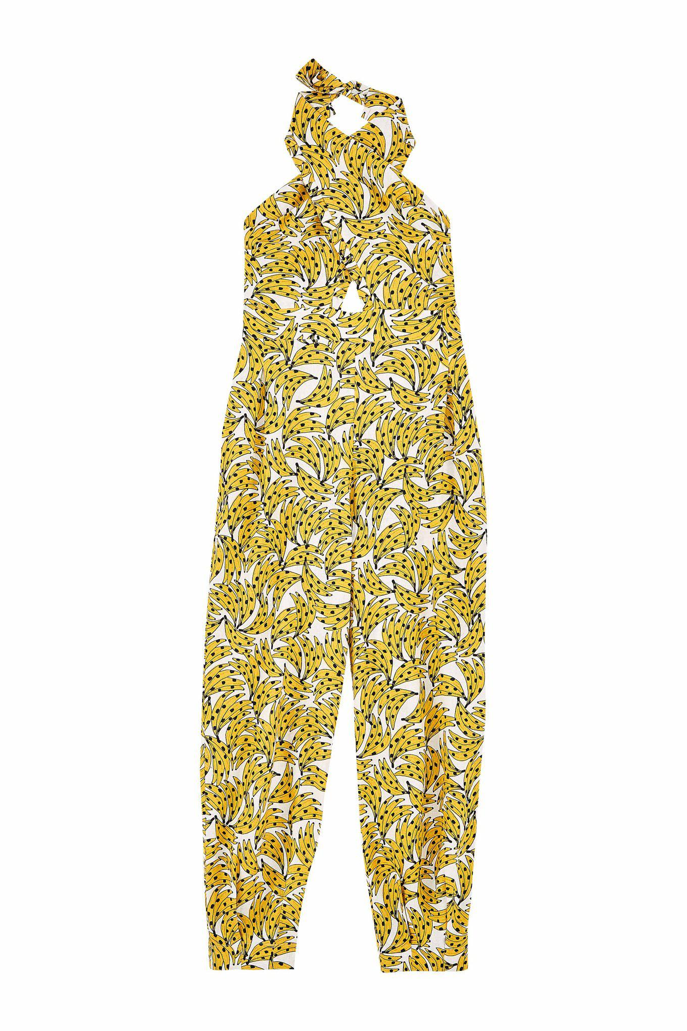 White Spotted Bananas Jumpsuit 4