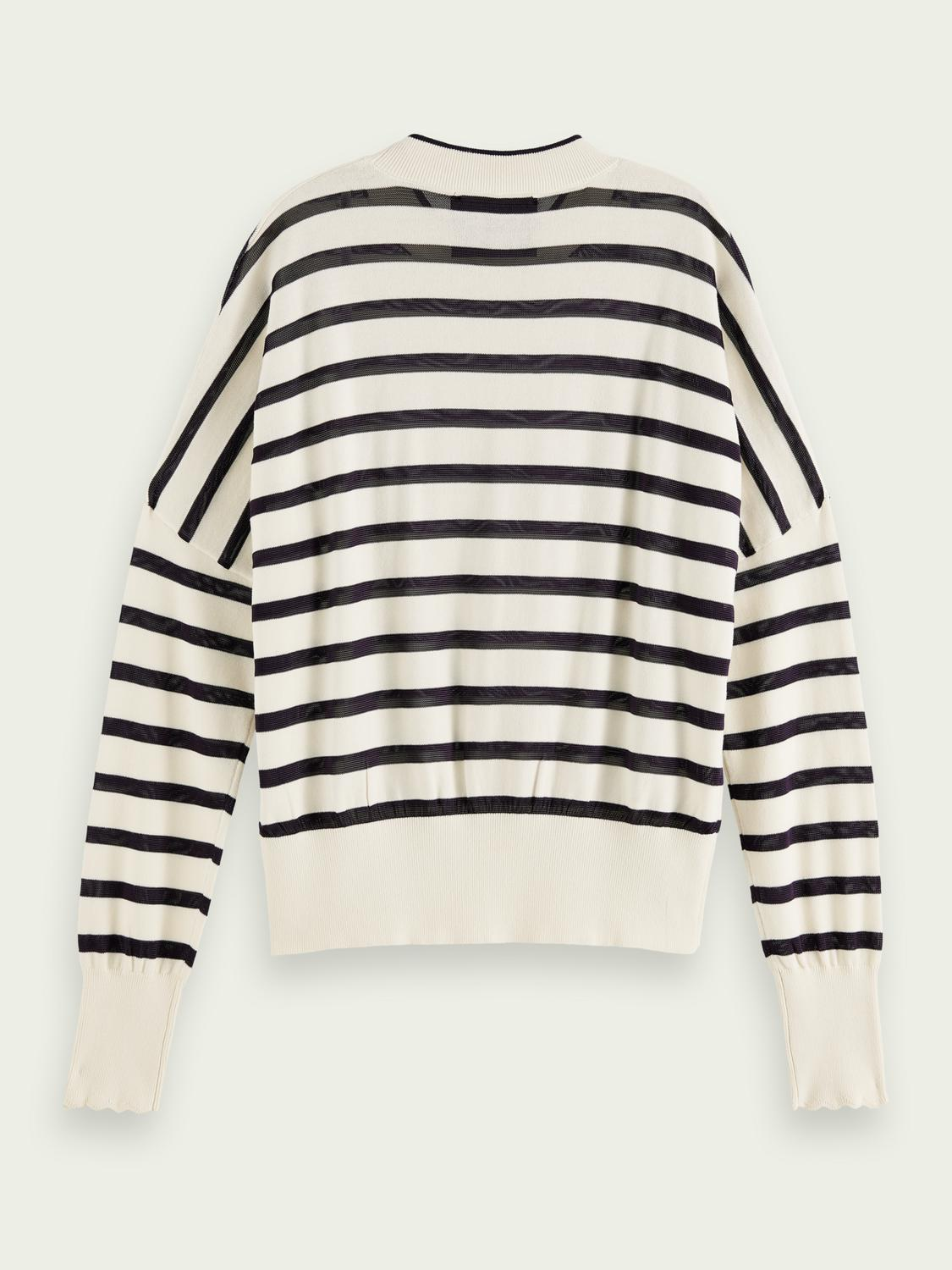 Knitted cotton-blend sweater 4