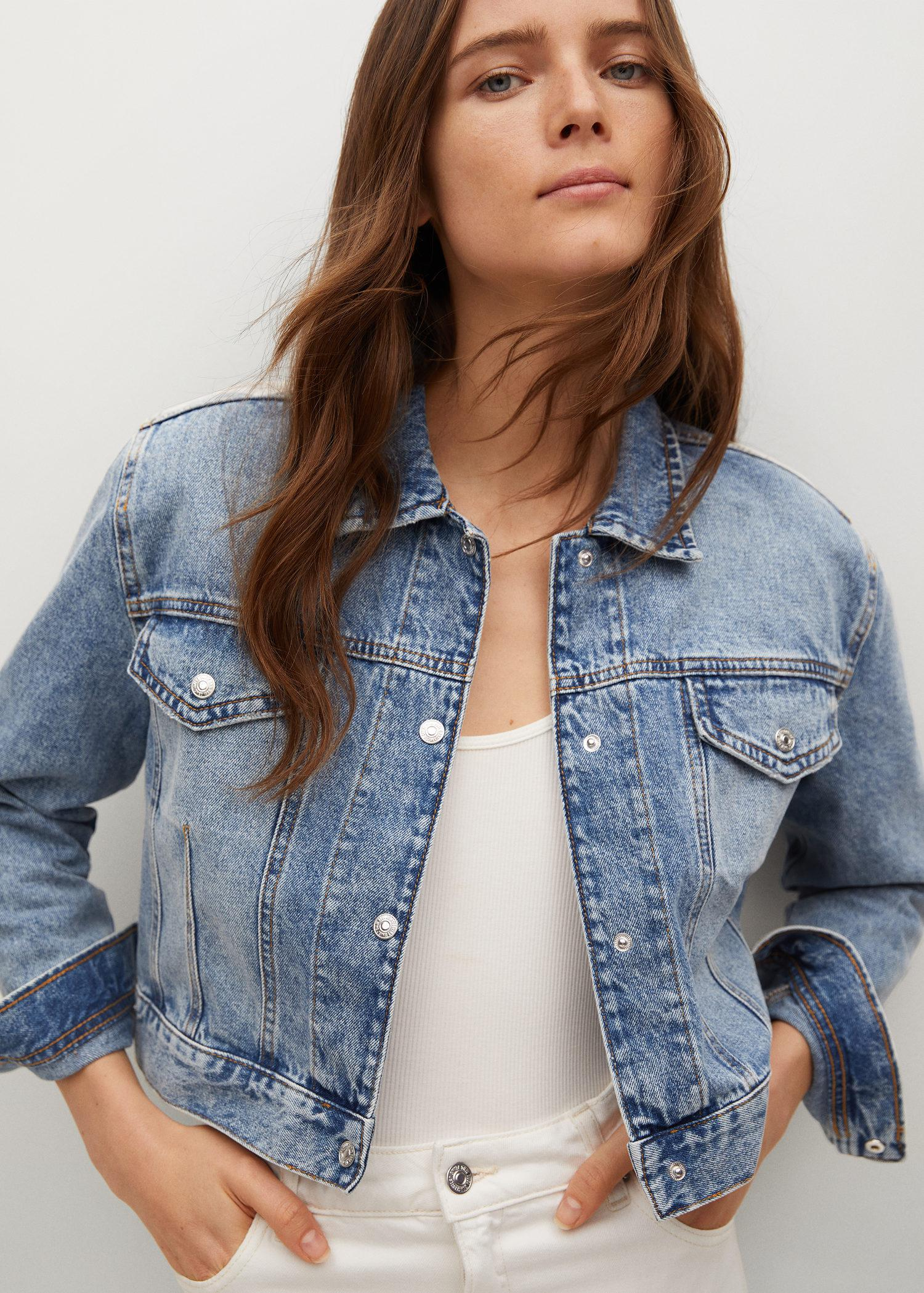 Cropped jacket with shoulder pads 4