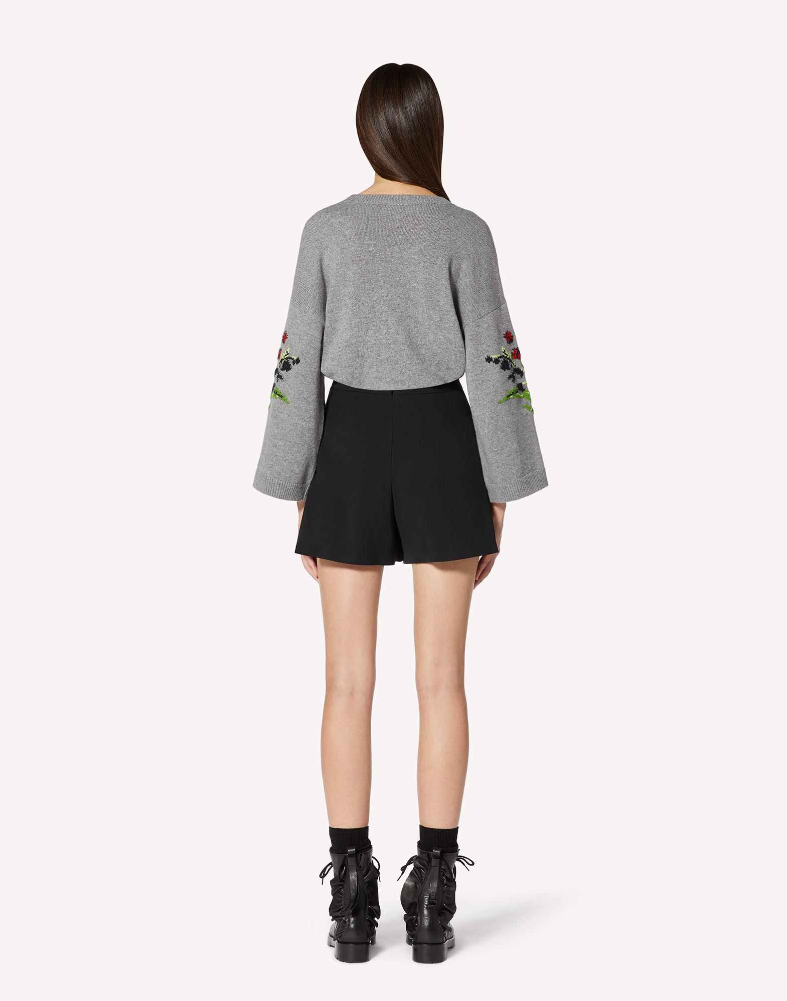 FLORAL JACQUARD WOOL-BLEND SWEATER 1