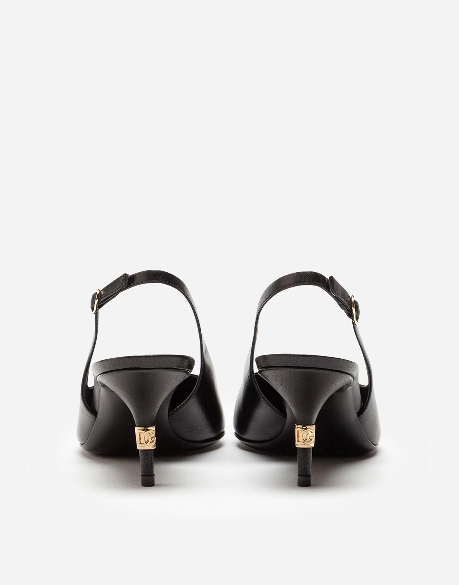 Slingbacks in young goatskin with DG logo 2