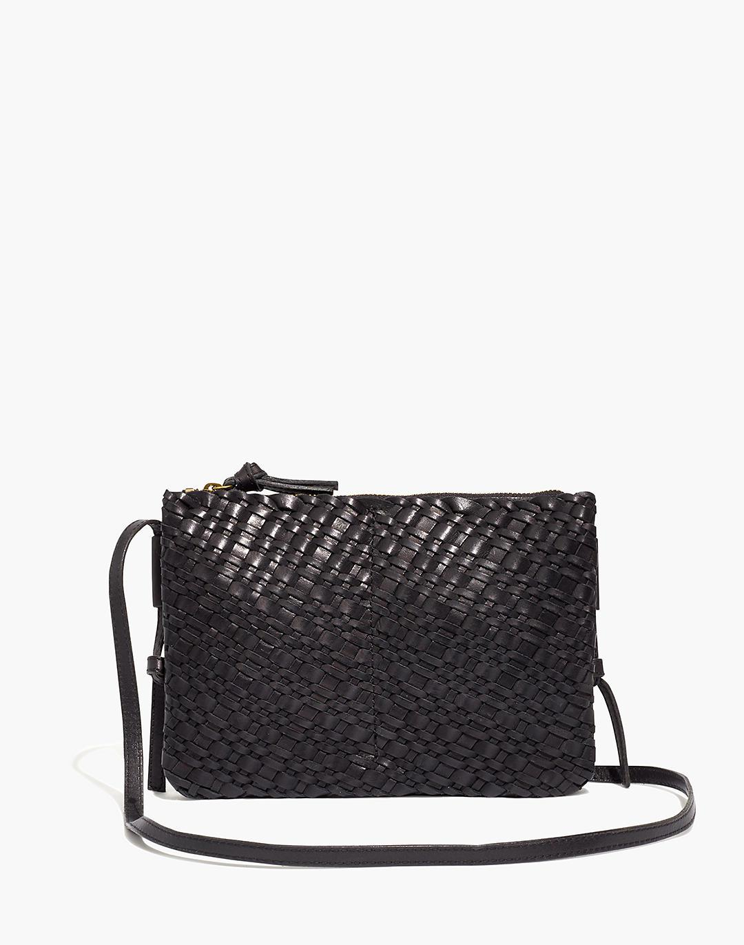 The Knotted Crossbody Bag in Woven Leather