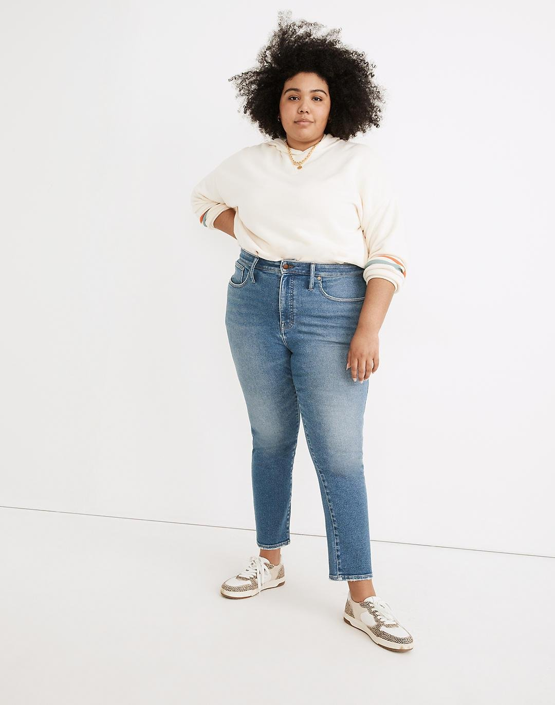 Plus Curvy Stovepipe Jeans in Ditmas Wash