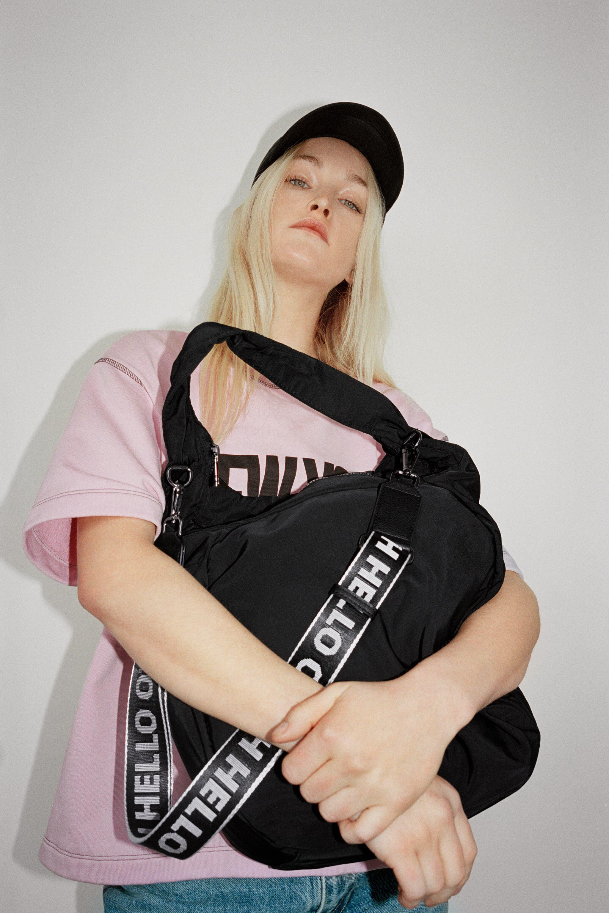 NYLON TOTE BAG WITH TEXT DETAIL 2