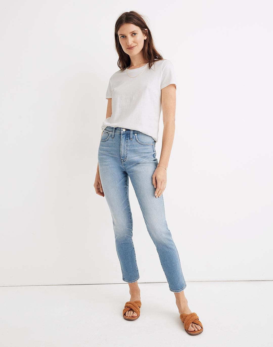 """Tall 10"""" High-Rise Skinny Crop Jeans in Horne Wash"""