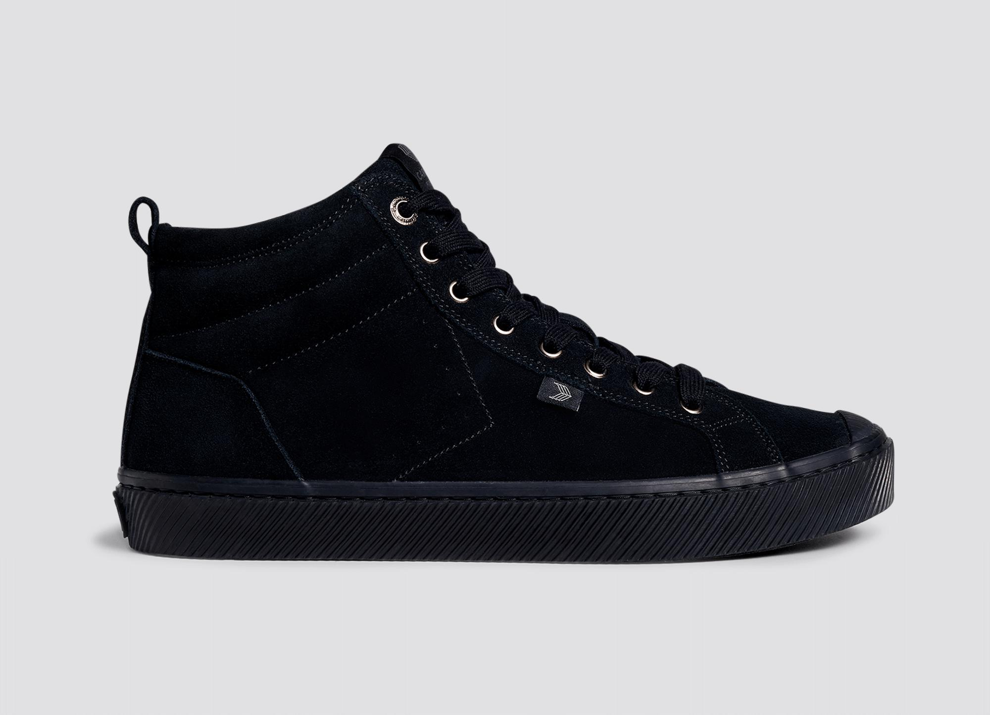 All Black Suede