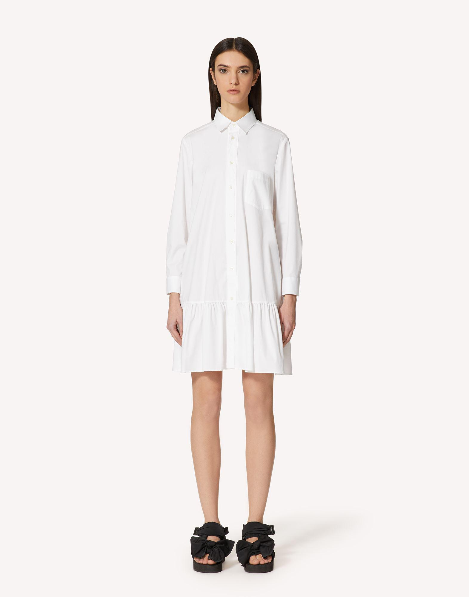 COTTON POPLIN DRESS WITH BOW DETAIL