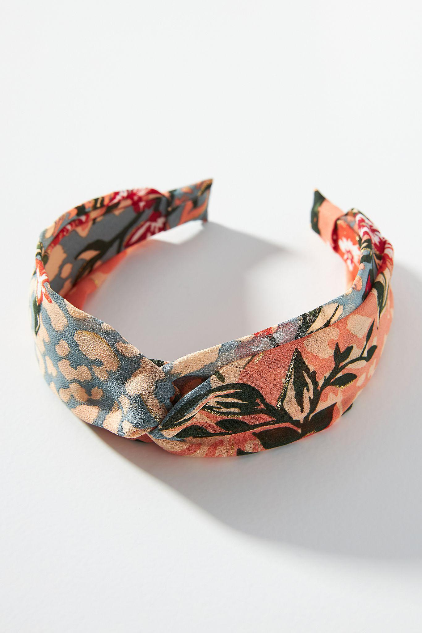 Mixed Floral Knotted Headband