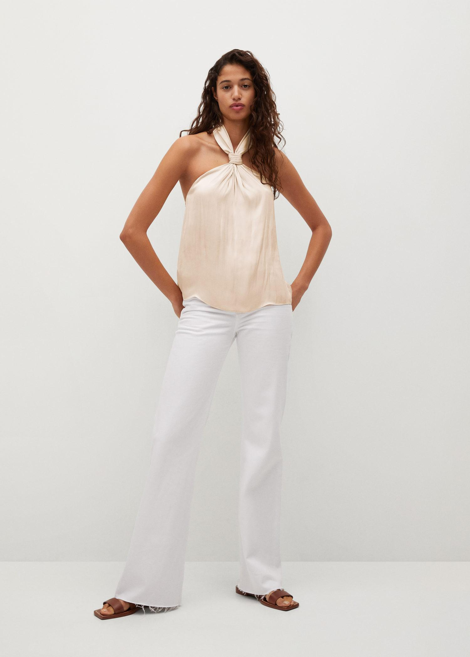 Knotted flowy top 1