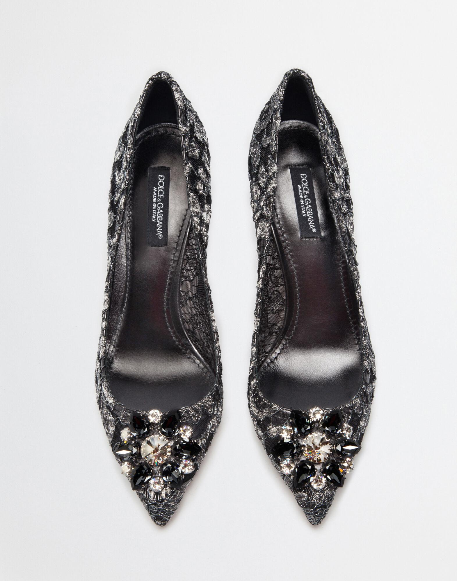 Pump in Taormina lurex lace with crystals 2
