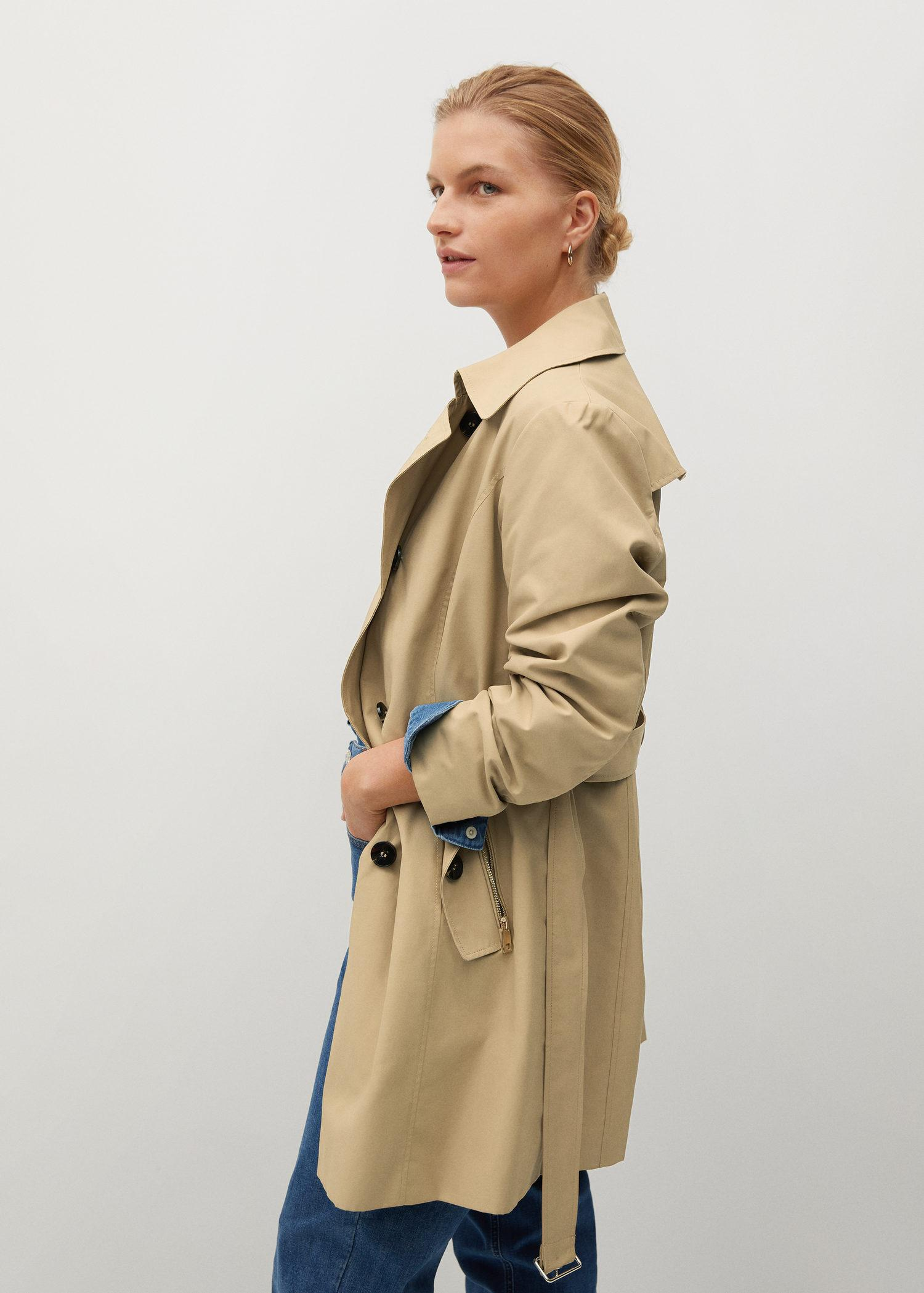 Classic belted trench 1