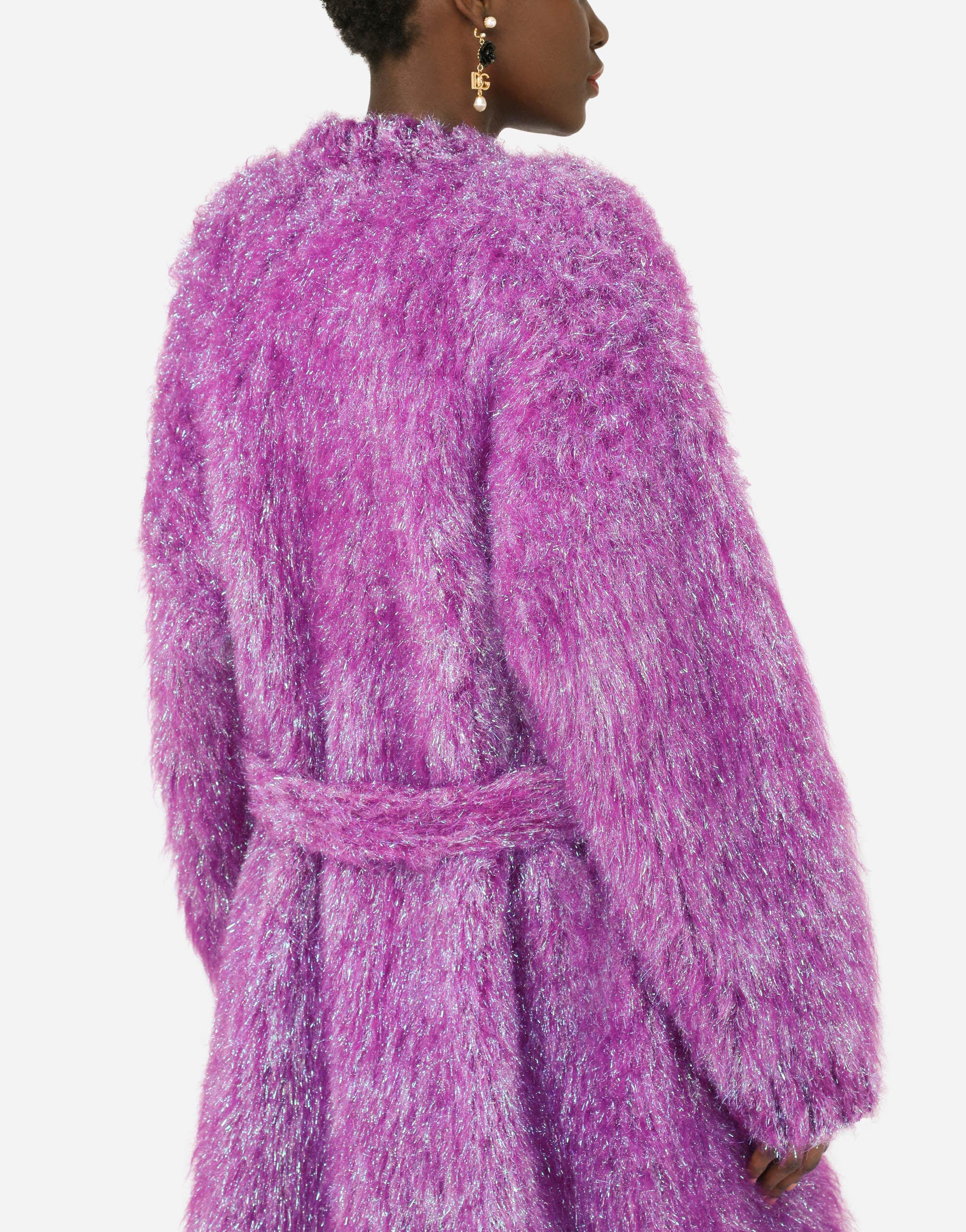 Knit coat with bejeweled buttons 5