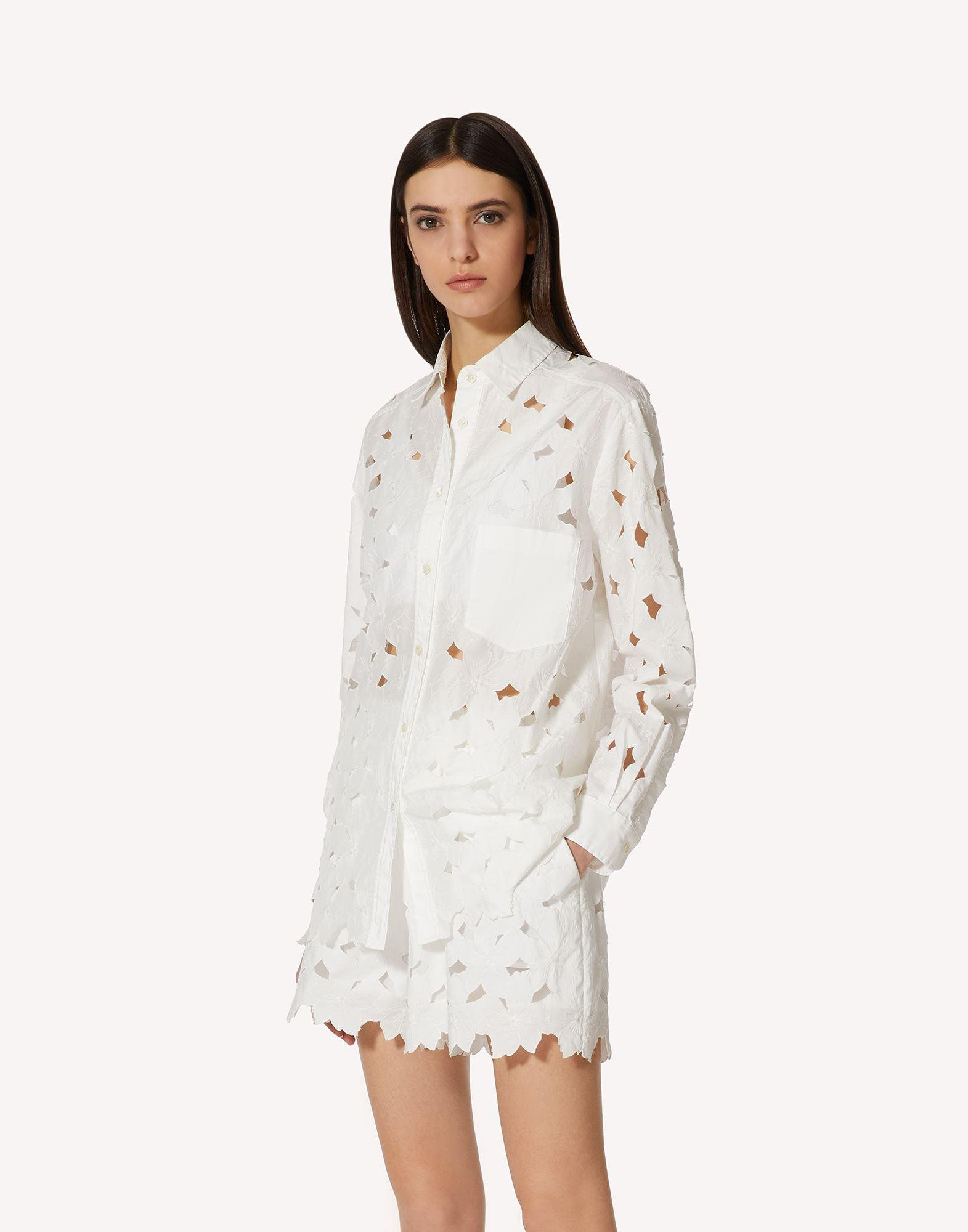 COTTON POPLIN SHIRT WITH CUT-OUT EMBROIDERY 2
