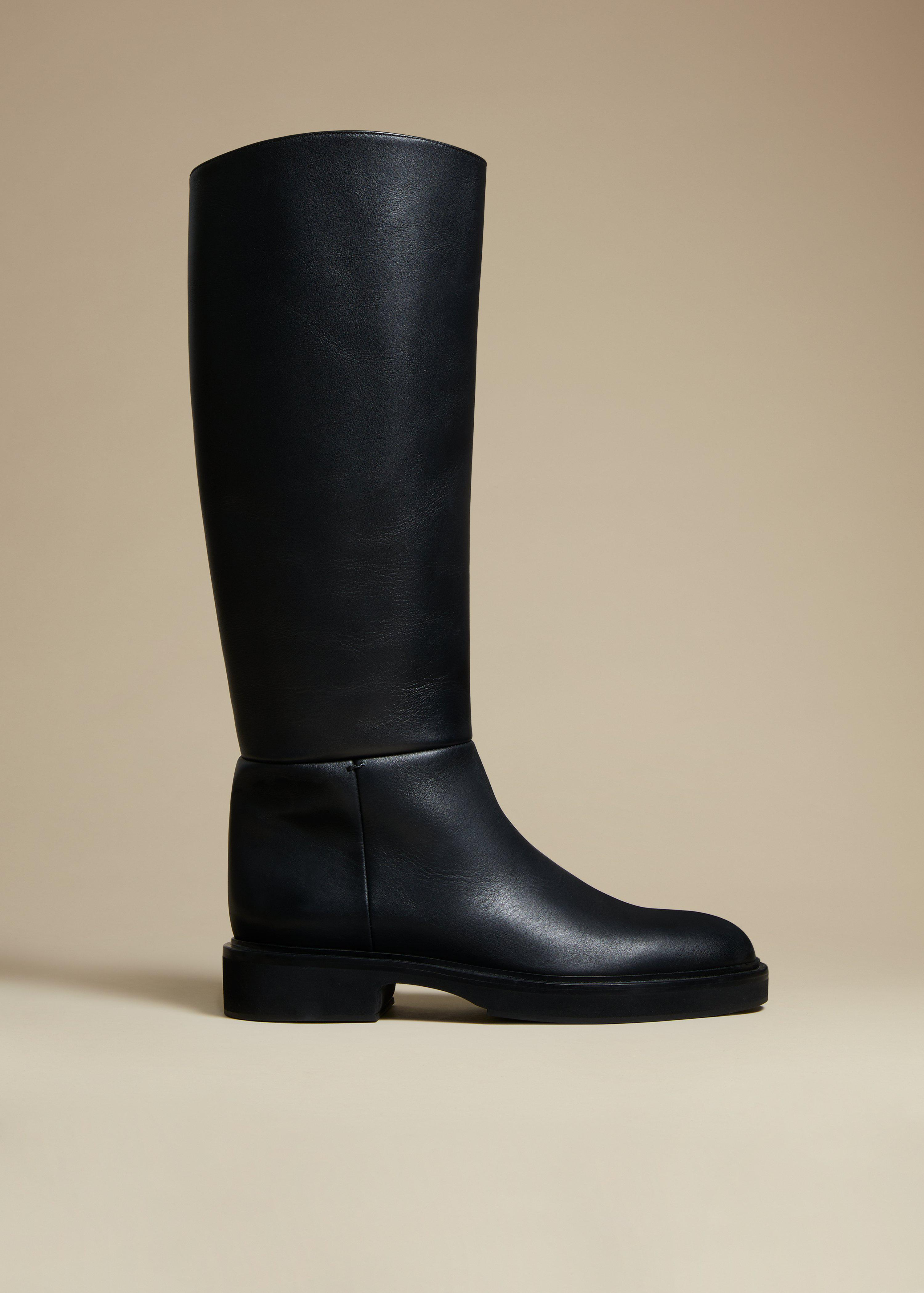 The Derby Boot in Black Leather