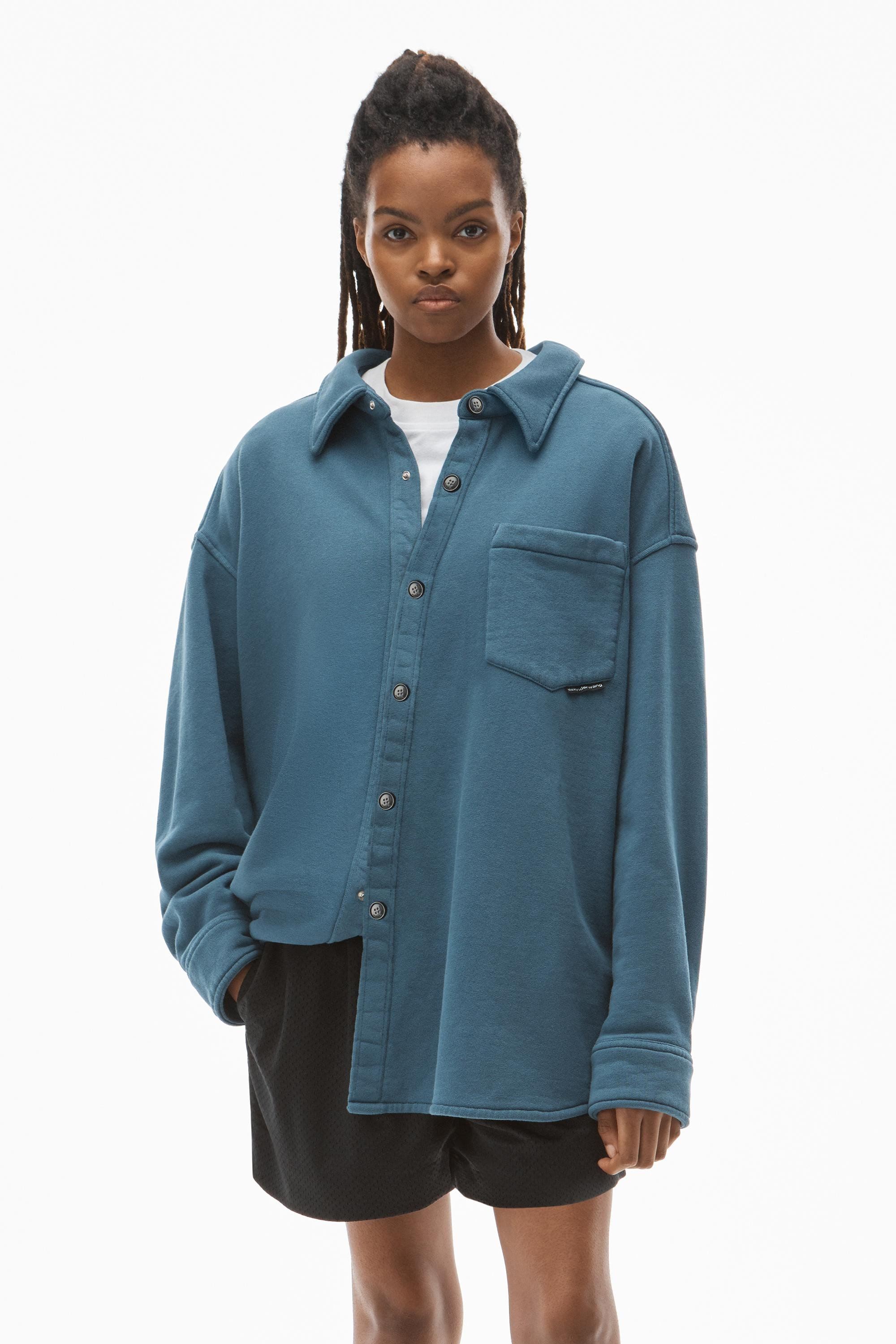 shirt jacket in terry 0
