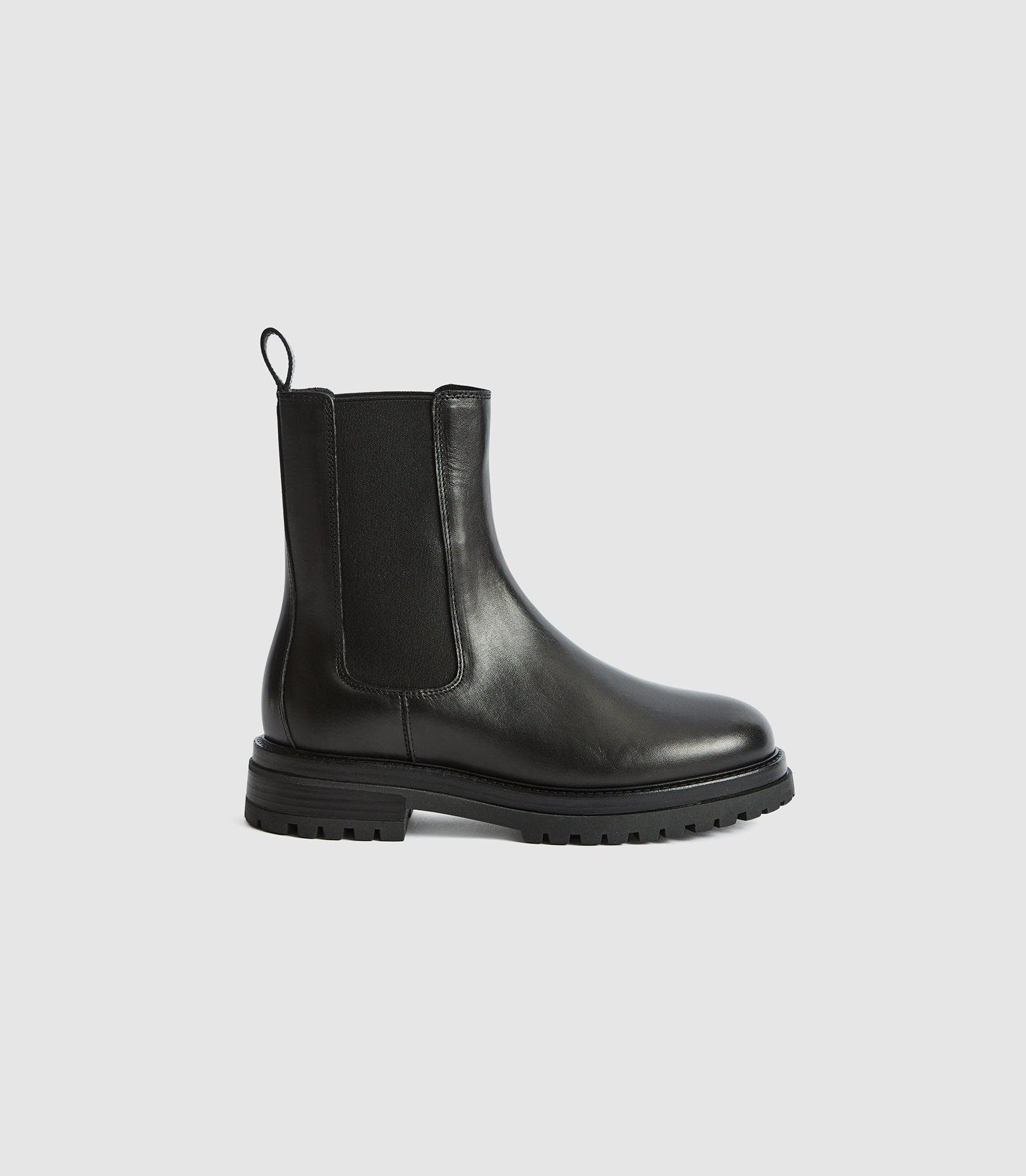 THEA - LEATHER CHELSEA BOOTS