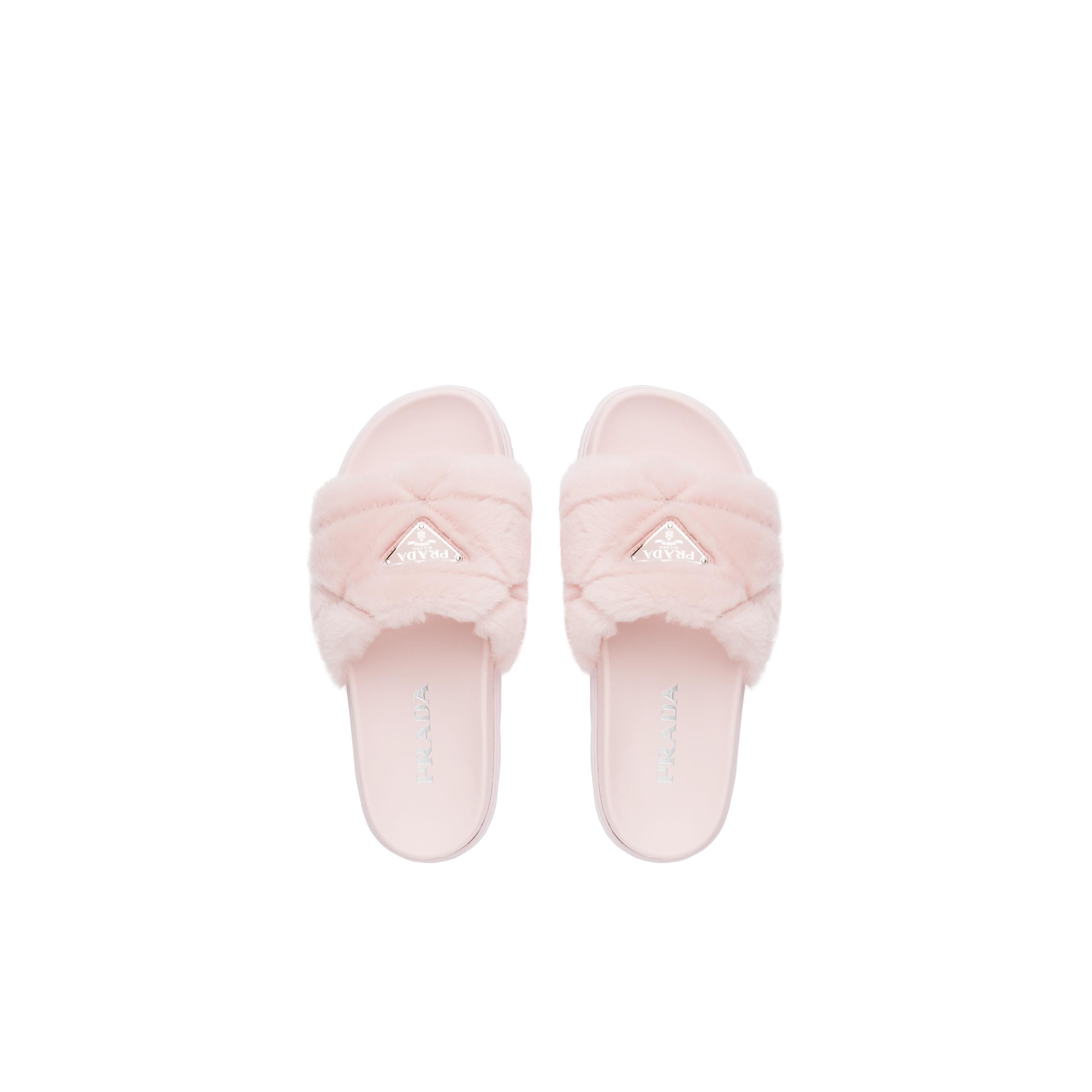 Shearling Slides Women Orchid Pink 1