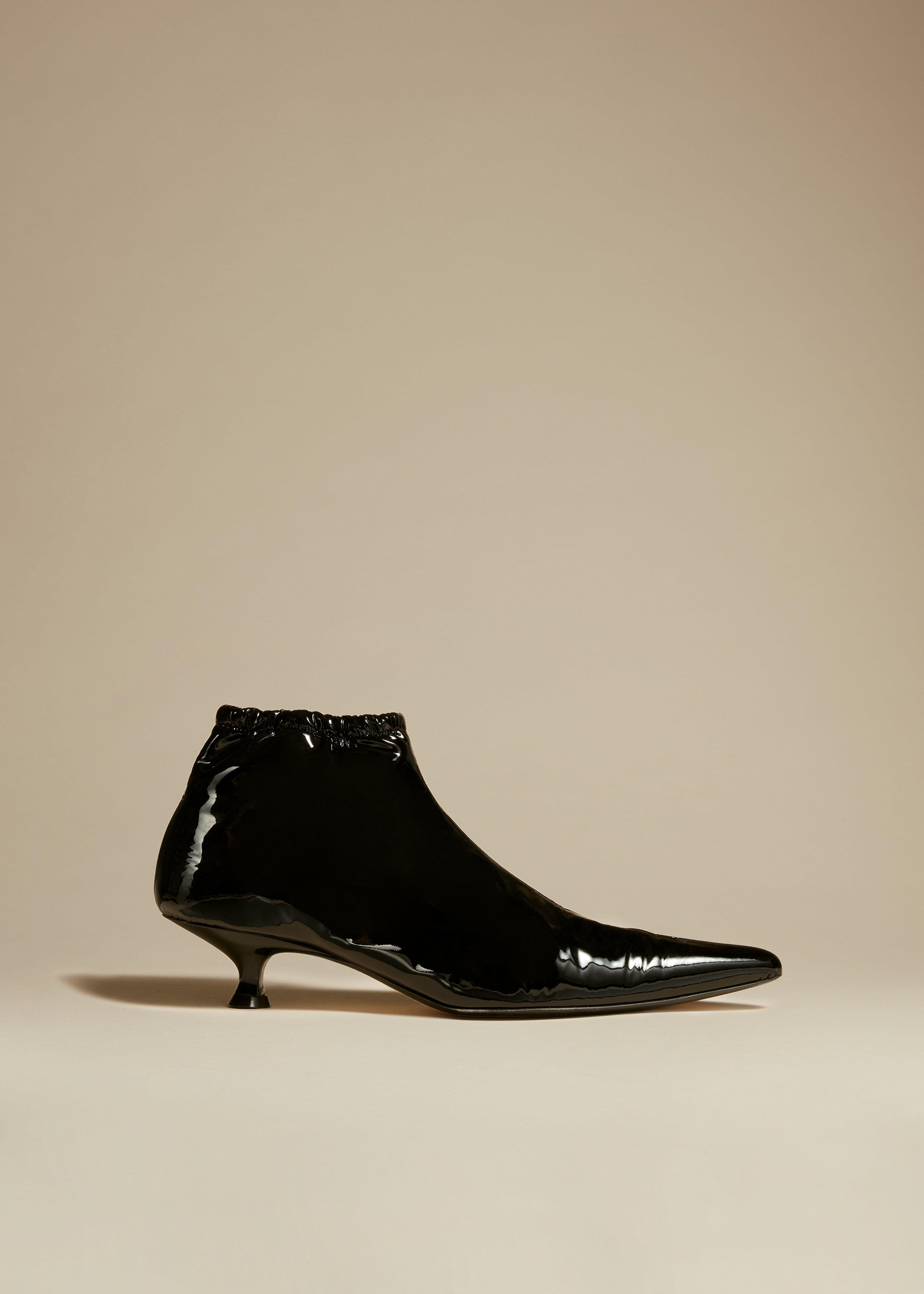 The Volos Boot in Black Patent Leather
