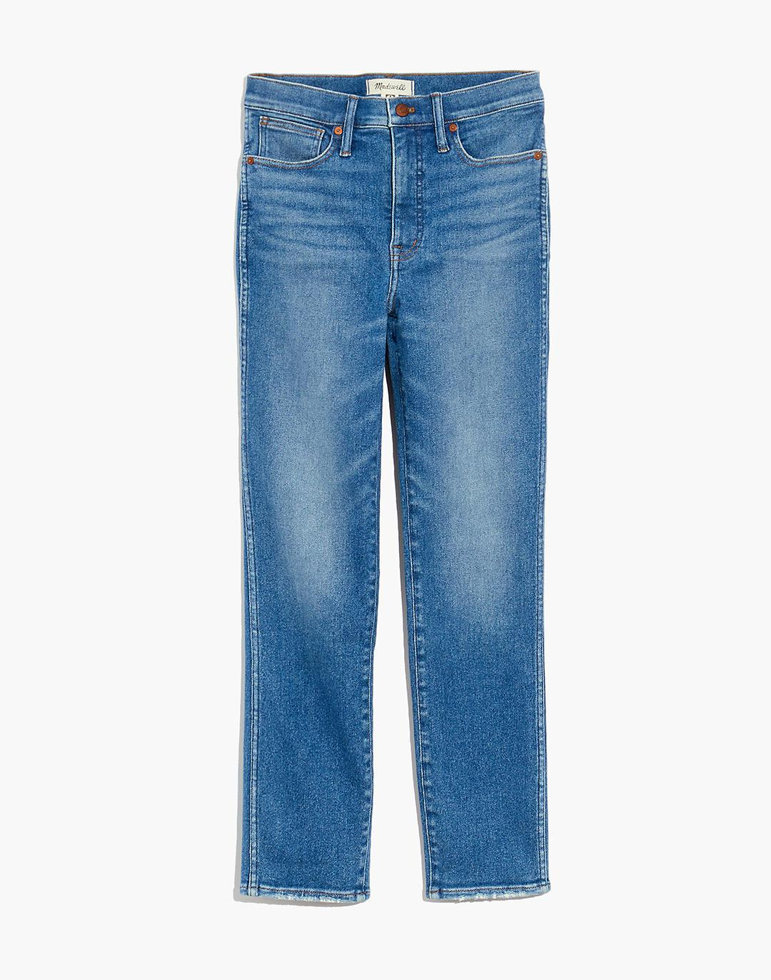 Petite Stovepipe Jeans in Ditmas Wash