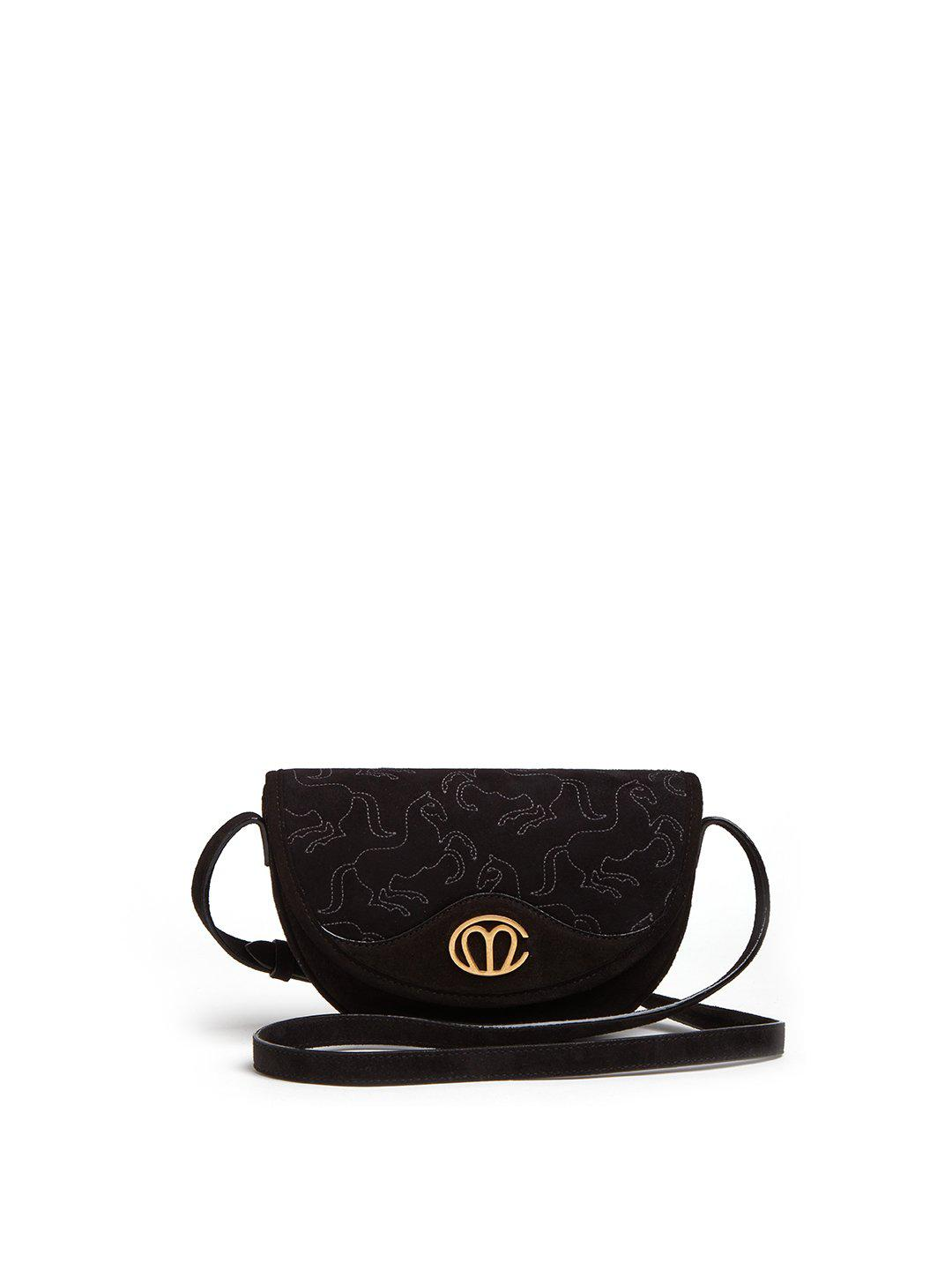 Christy Embroidered Suede Crossbody Bag