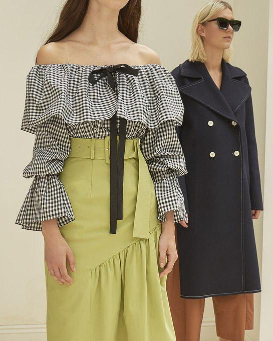 Clara Off-Shoulder Blouse Black & White Gingham - SPECIAL PRICE 3