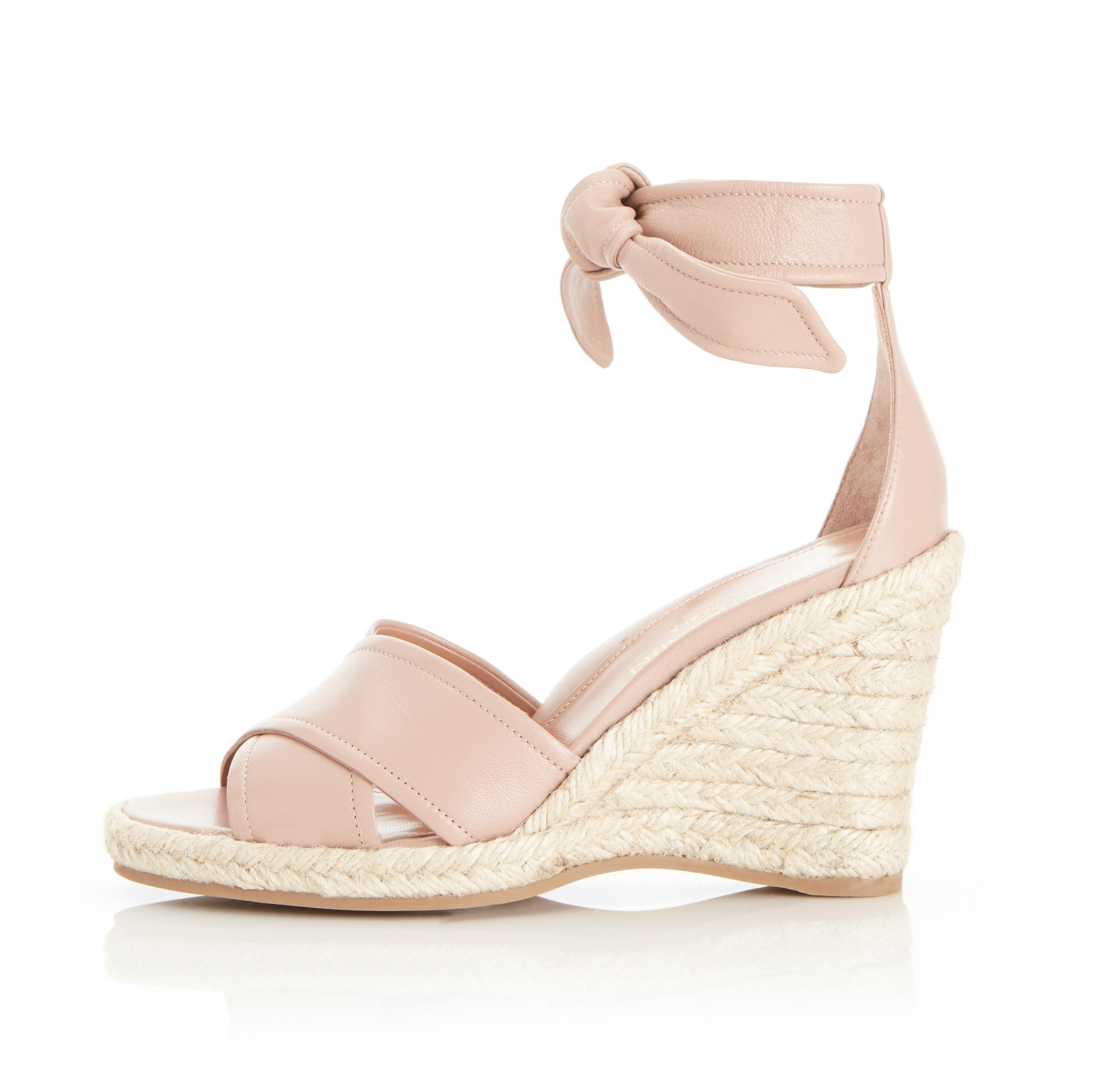 Leah Wedge | Leather Espadrille Style Sandal