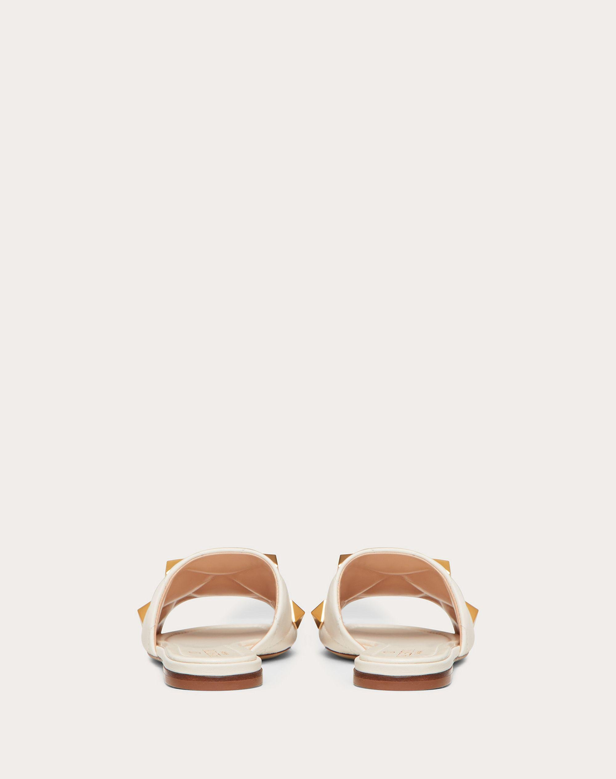 ROMAN STUD FLAT SLIDE SANDAL IN QUILTED NAPPA 2