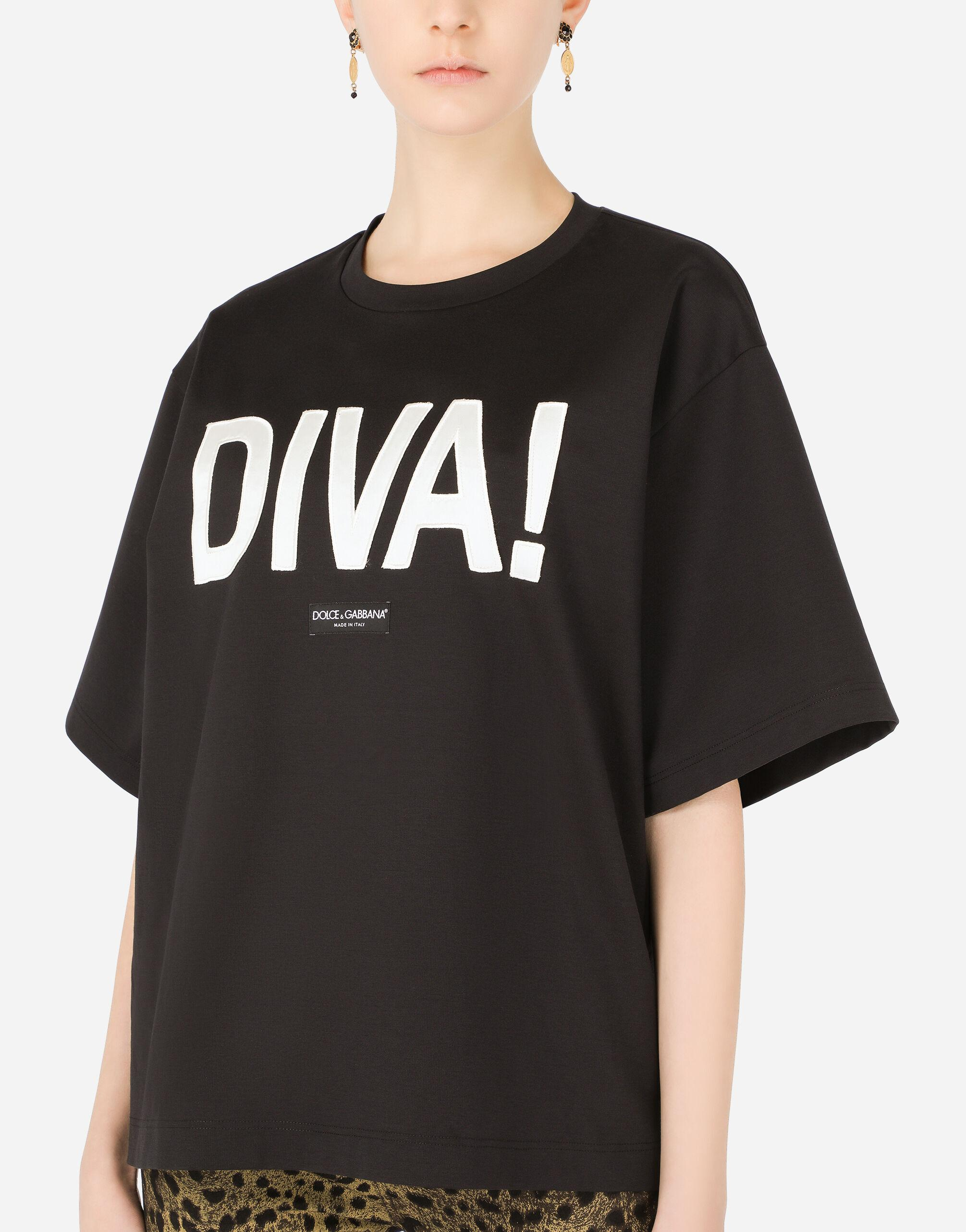 Jersey T-shirt with diva patch 2
