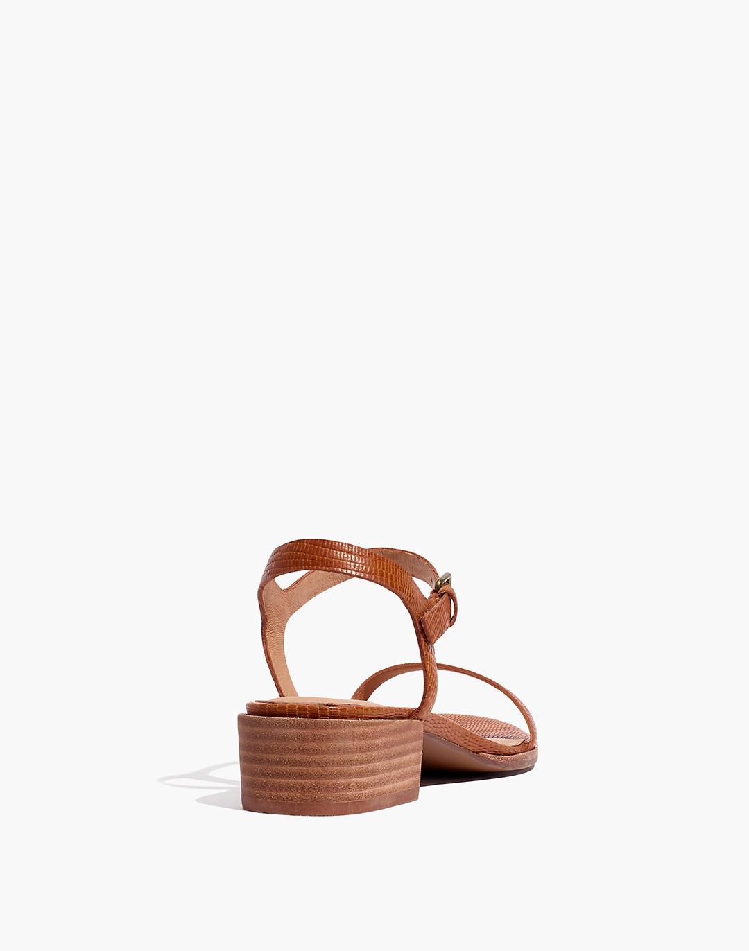 The Louise Sandal in Lizard Embossed Leather 2