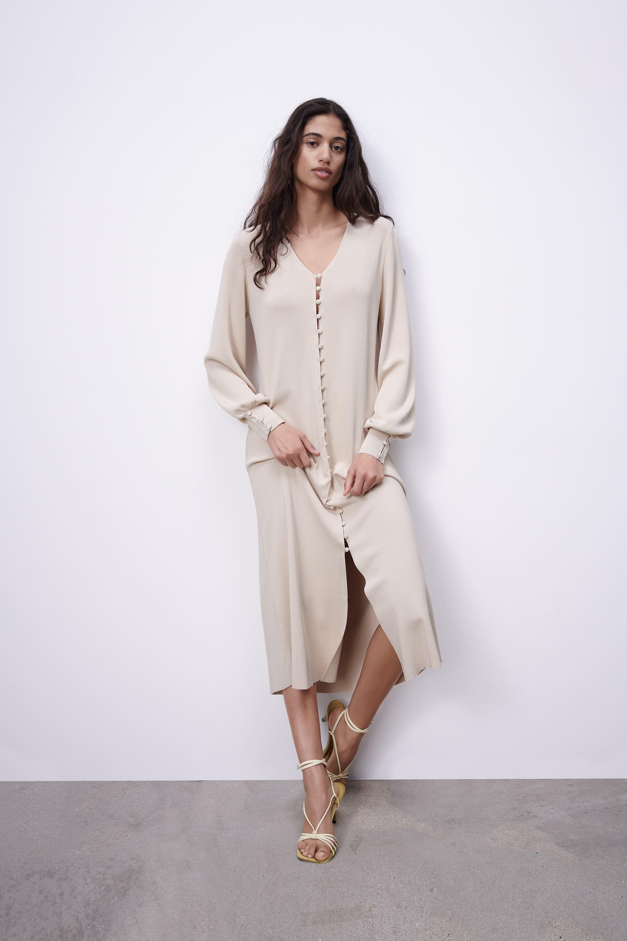 LIMITED EDITION BUTTONED KNIT DRESS 0