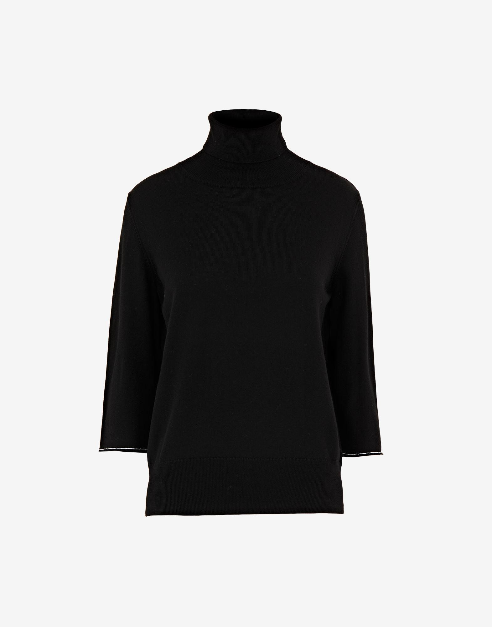 Cropped elbow patch sweater 4