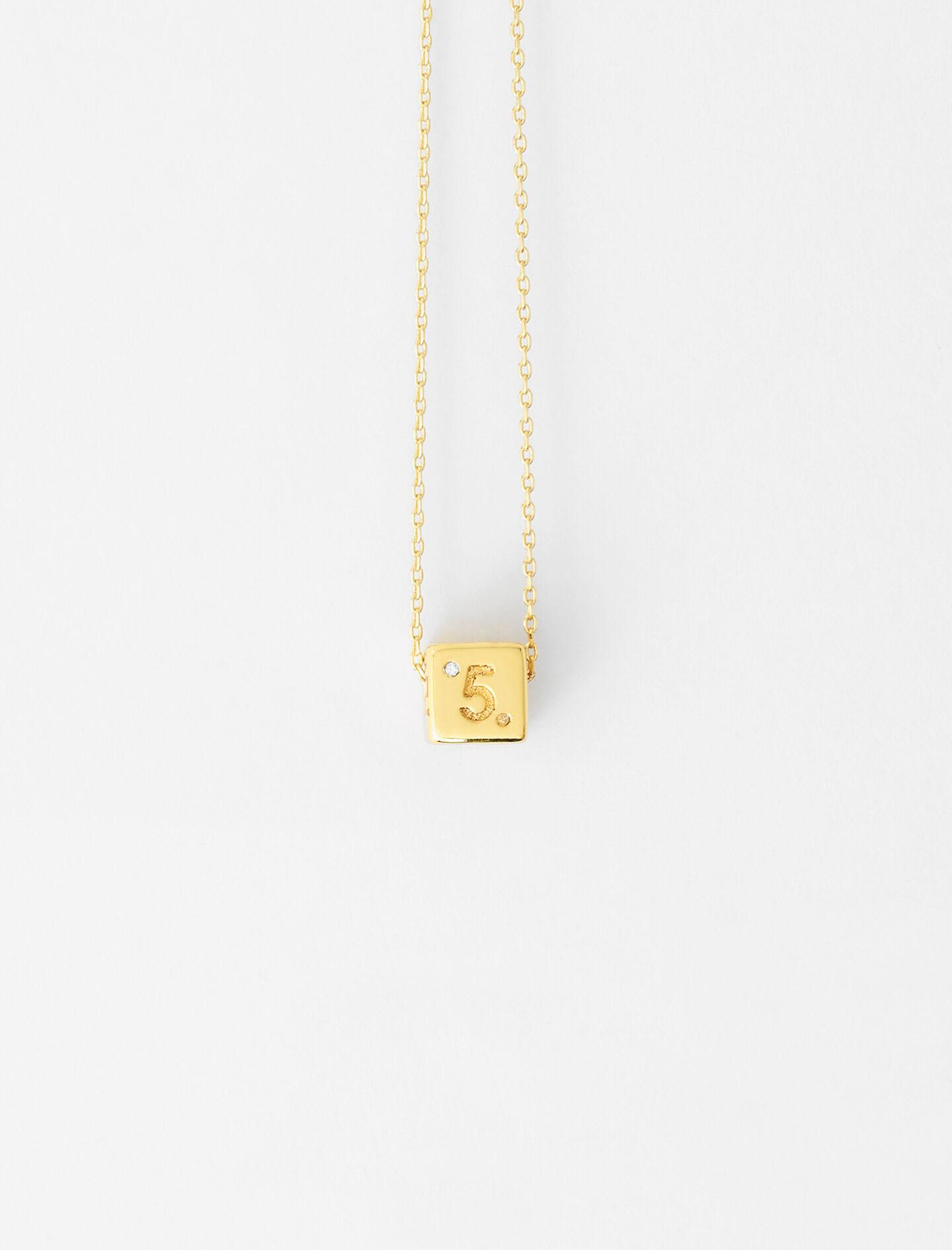 NUMBER 5 DICE NECKLACE
