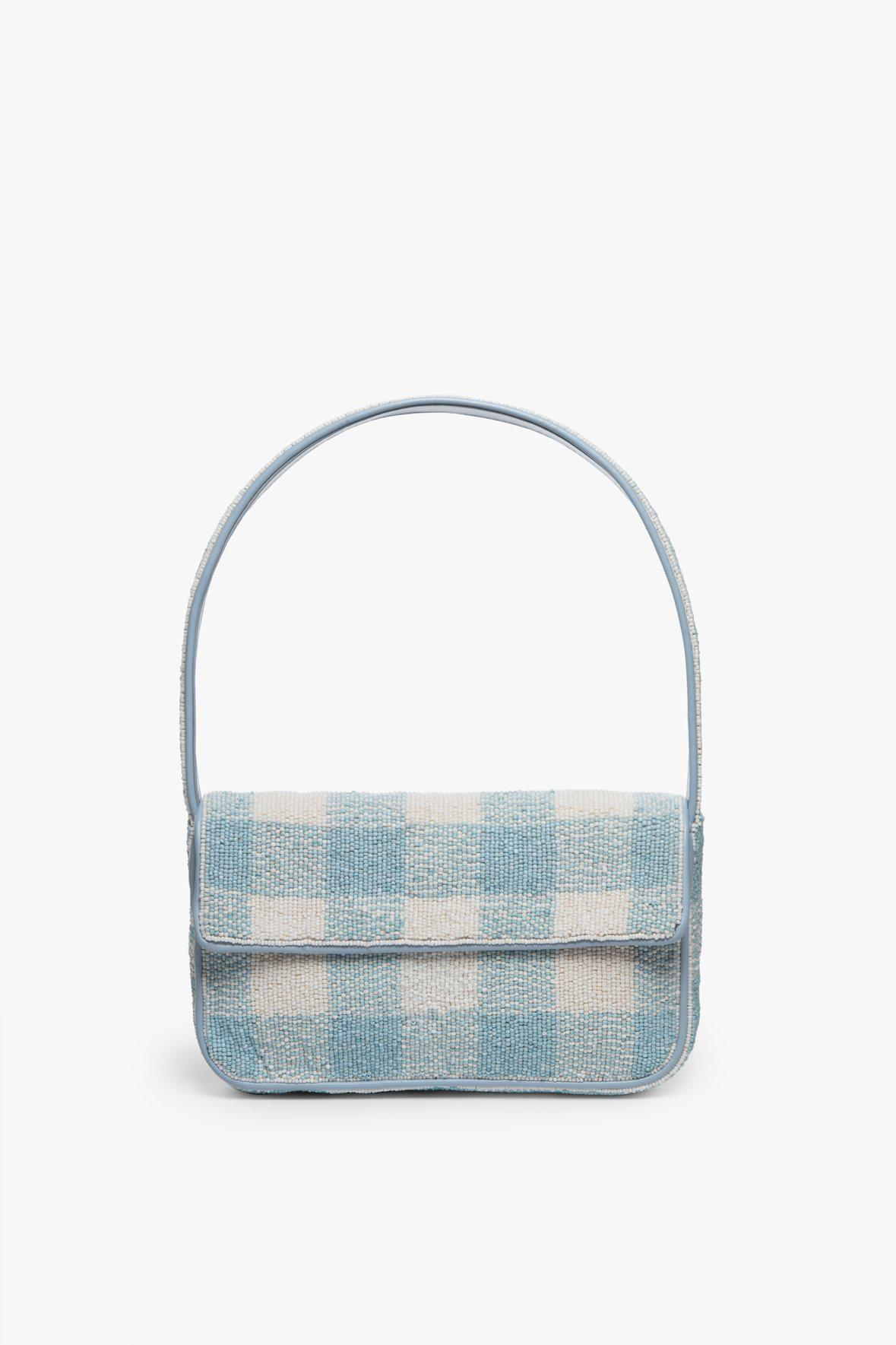 TOMMY BEADED BAG | ARCTIC BLUE WHITE