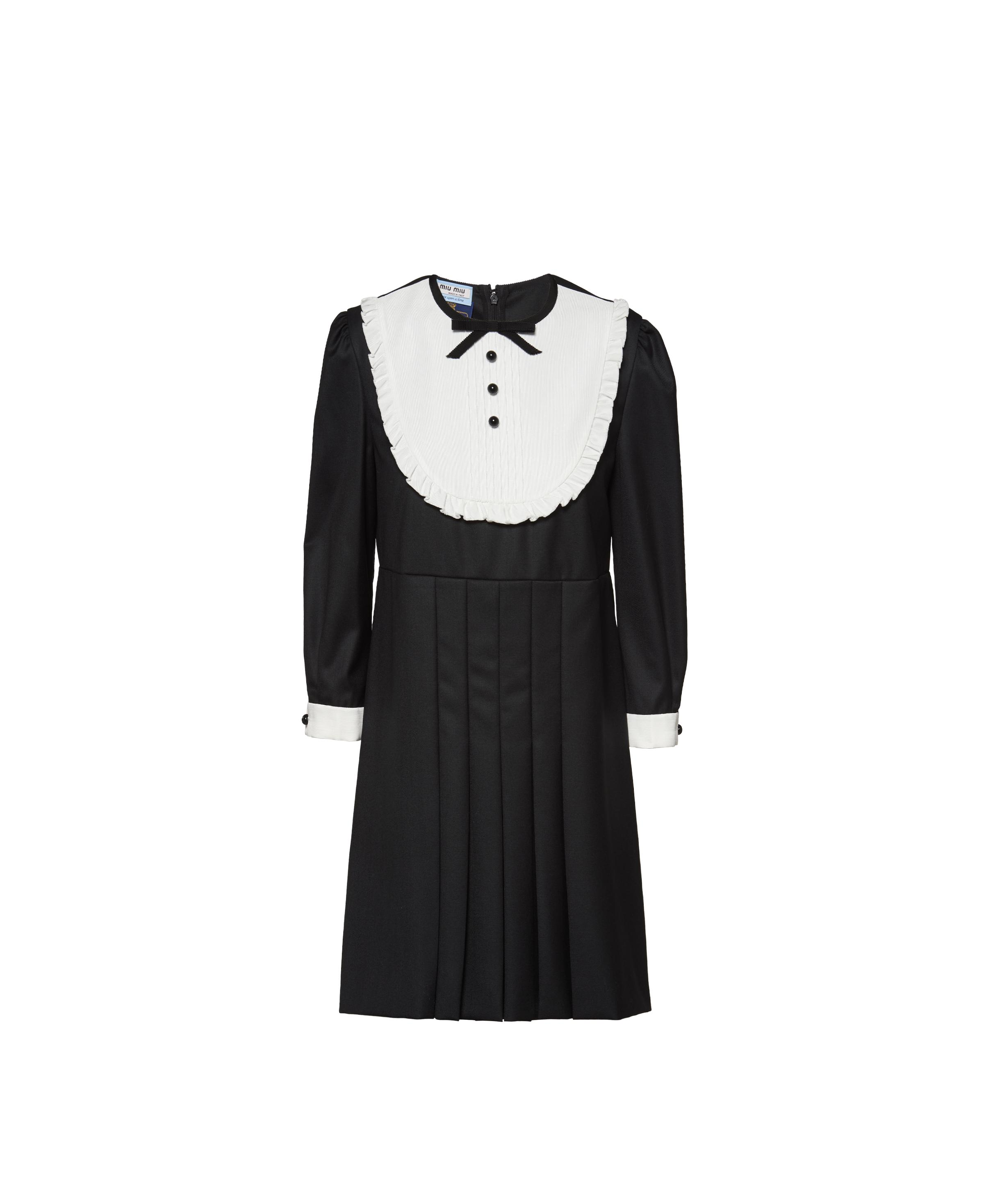 Once Upon A Time Wool Twill Dress Women Black