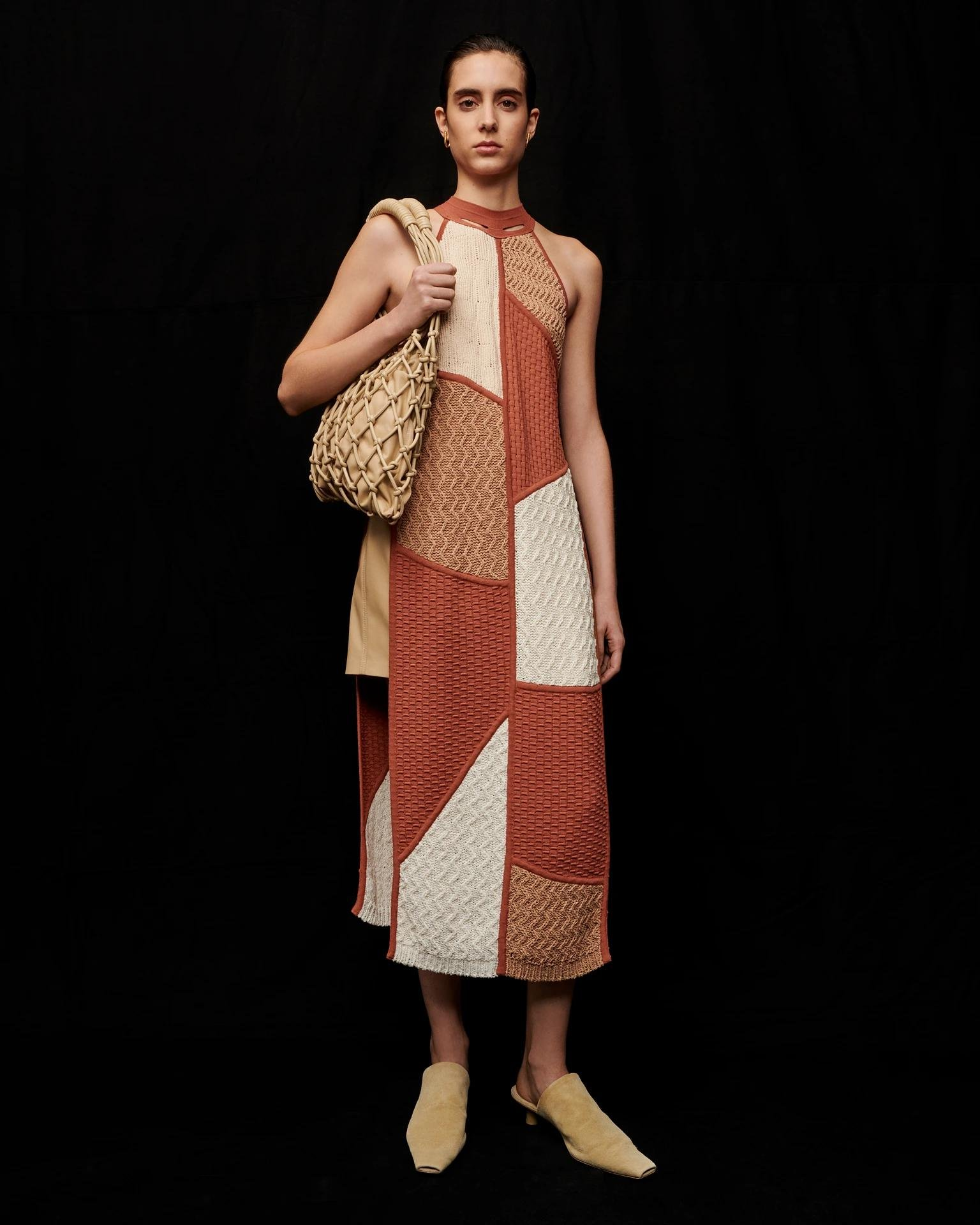 WENDI - Knitted dress - Patchwork