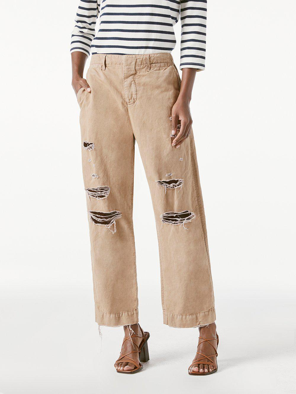 Le Tomboy Trouser -- Washed Dark Sand