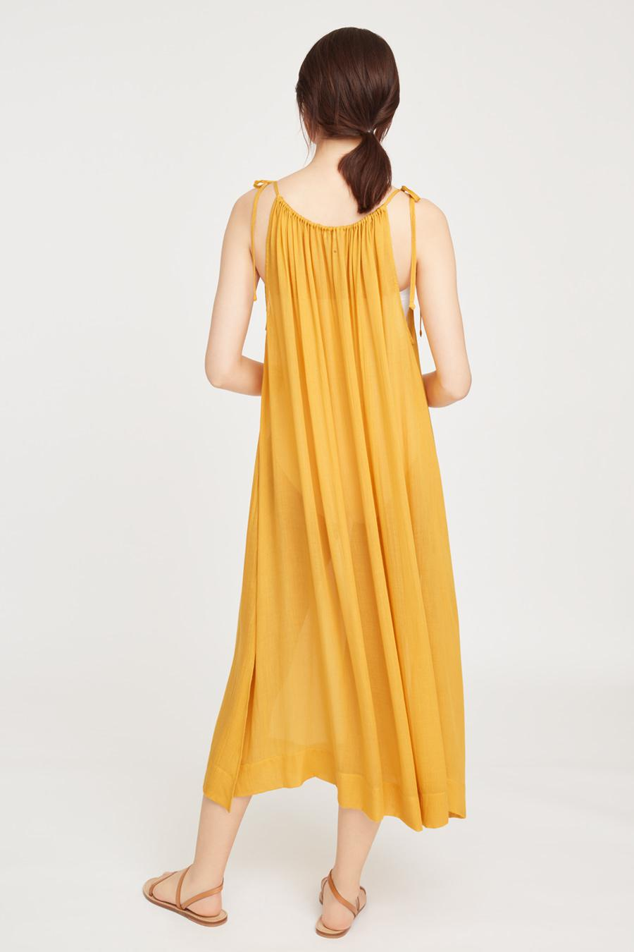 Women's Gathered-Neck Maxi Coverup in Daffodil | Size: 2