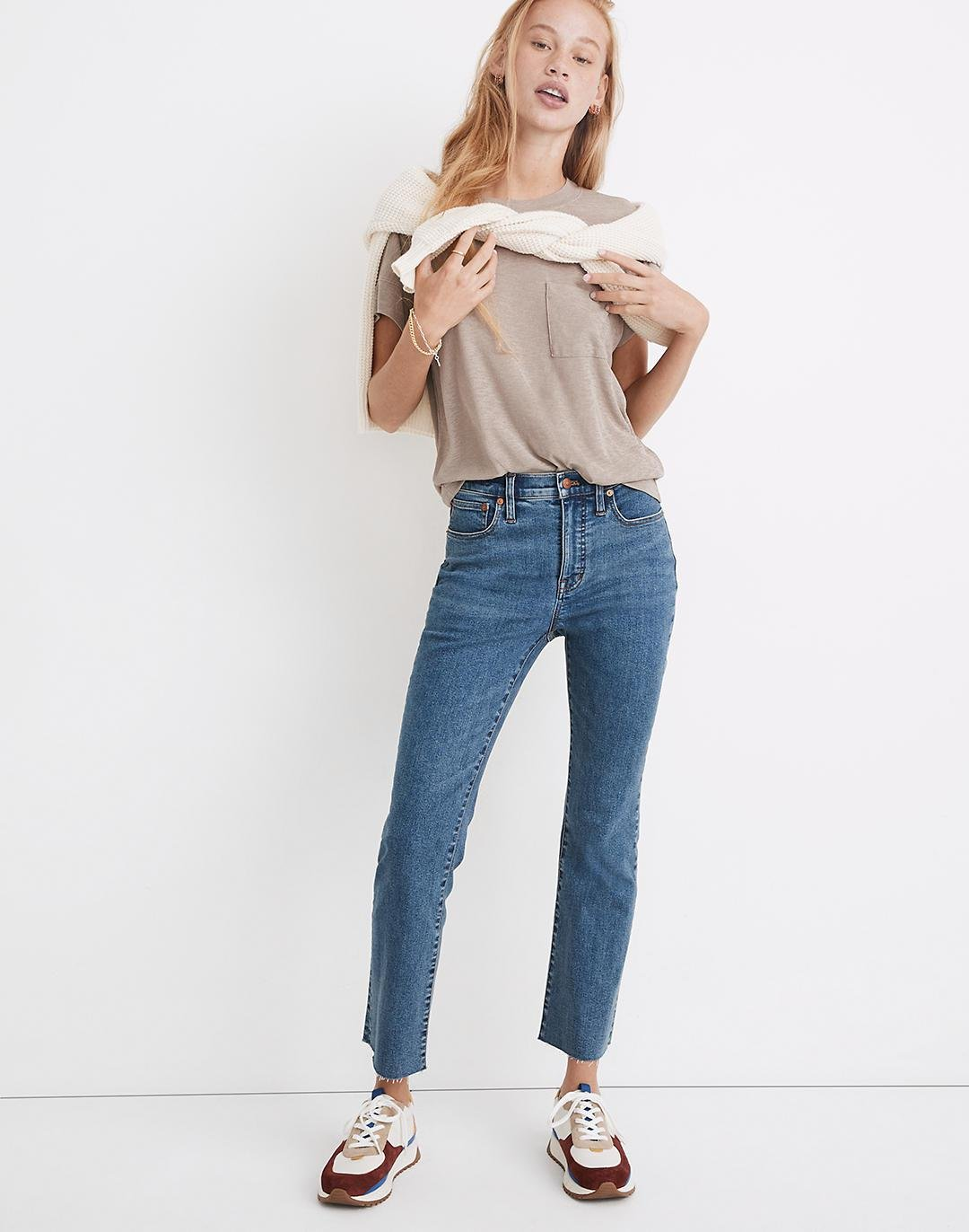 Petite Cali Demi-Boot Jeans in Halsted Wash