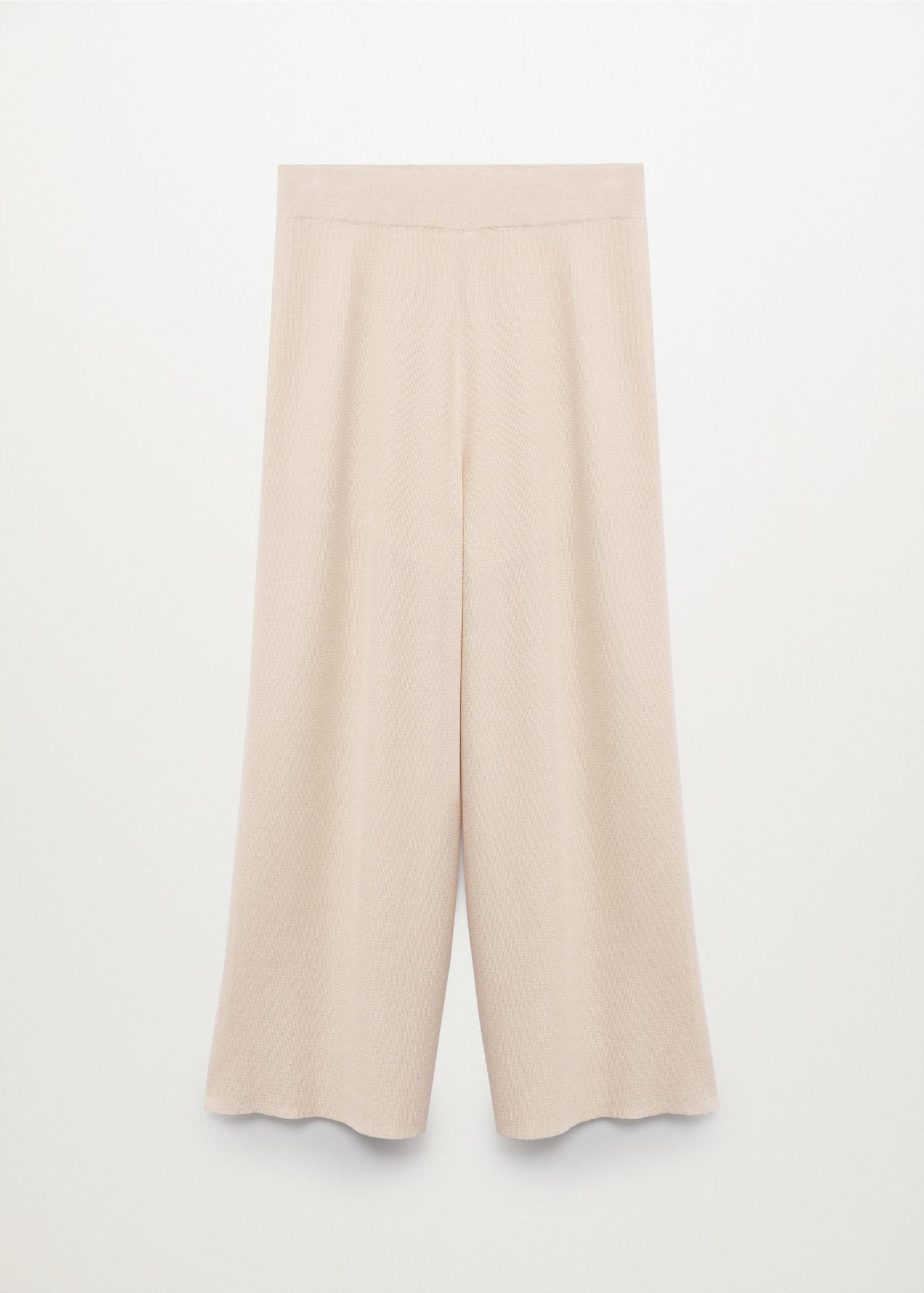 Knitted culotte trousers 7