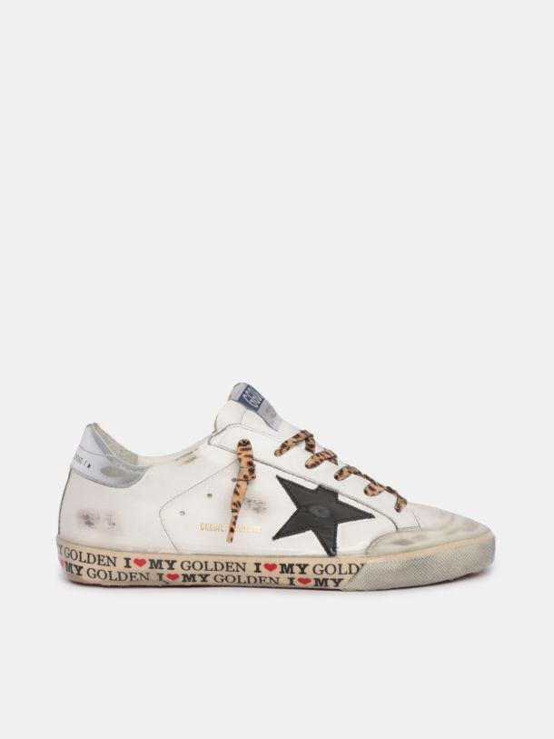 LTD Super-Star sneakers with decorations on the foxing and leopard-print laces