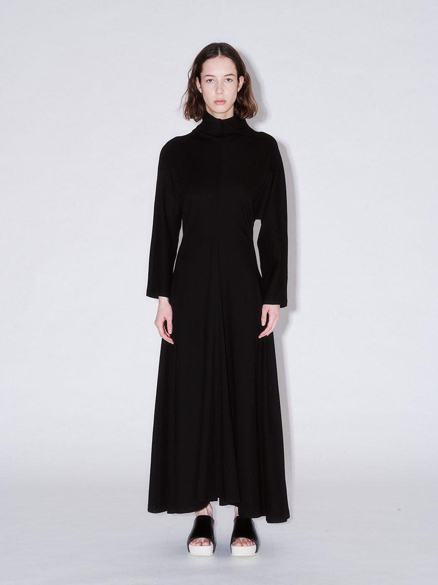 Funnel Neck Fitted Dress