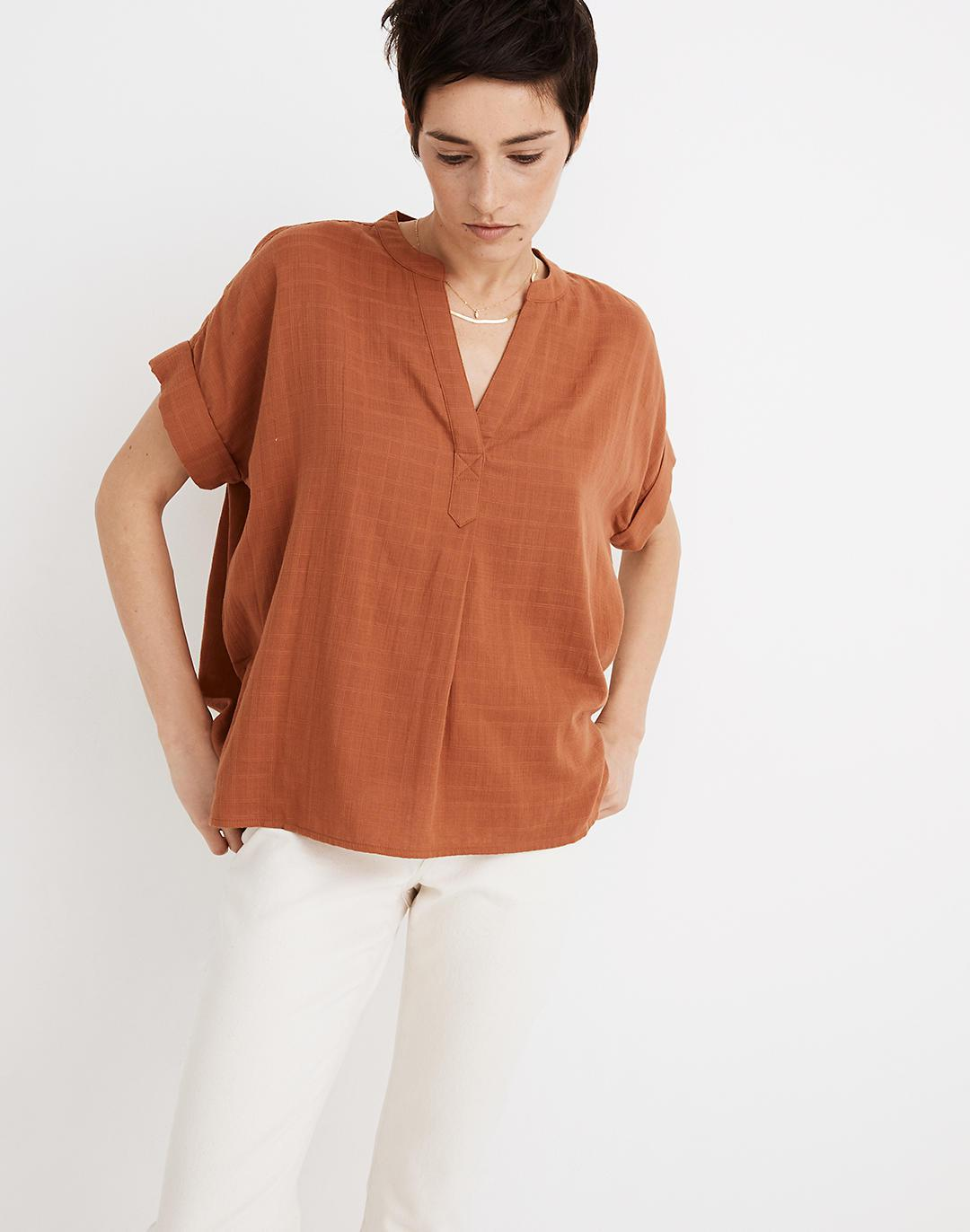Lakeline Popover Shirt in Textural Plaid