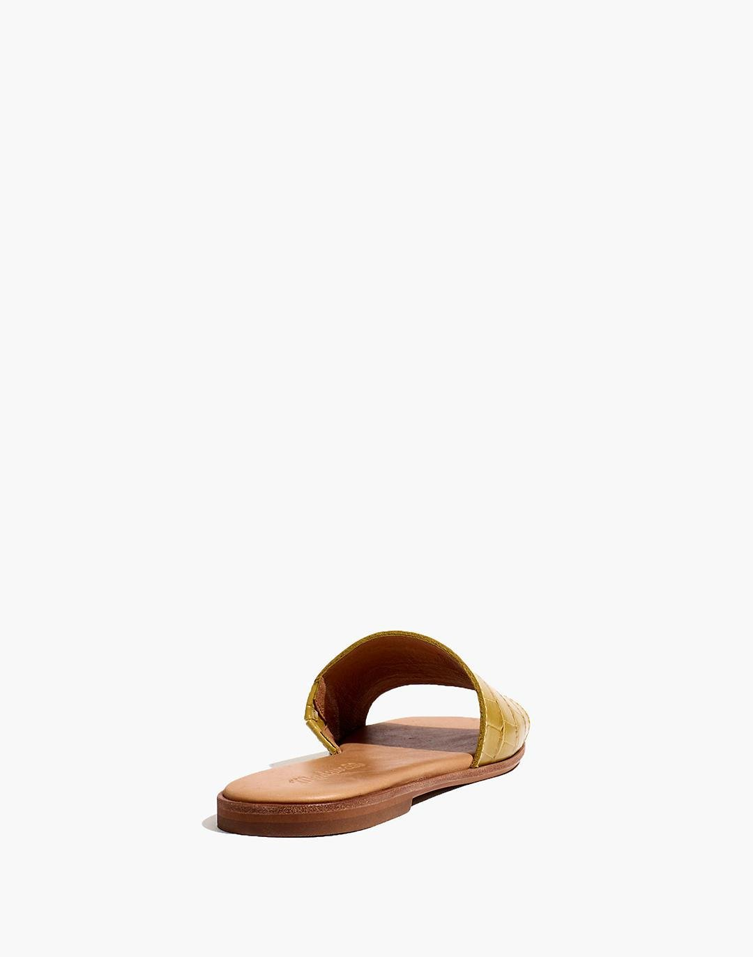 The Lianne Slide in Croc Embossed Leather 2