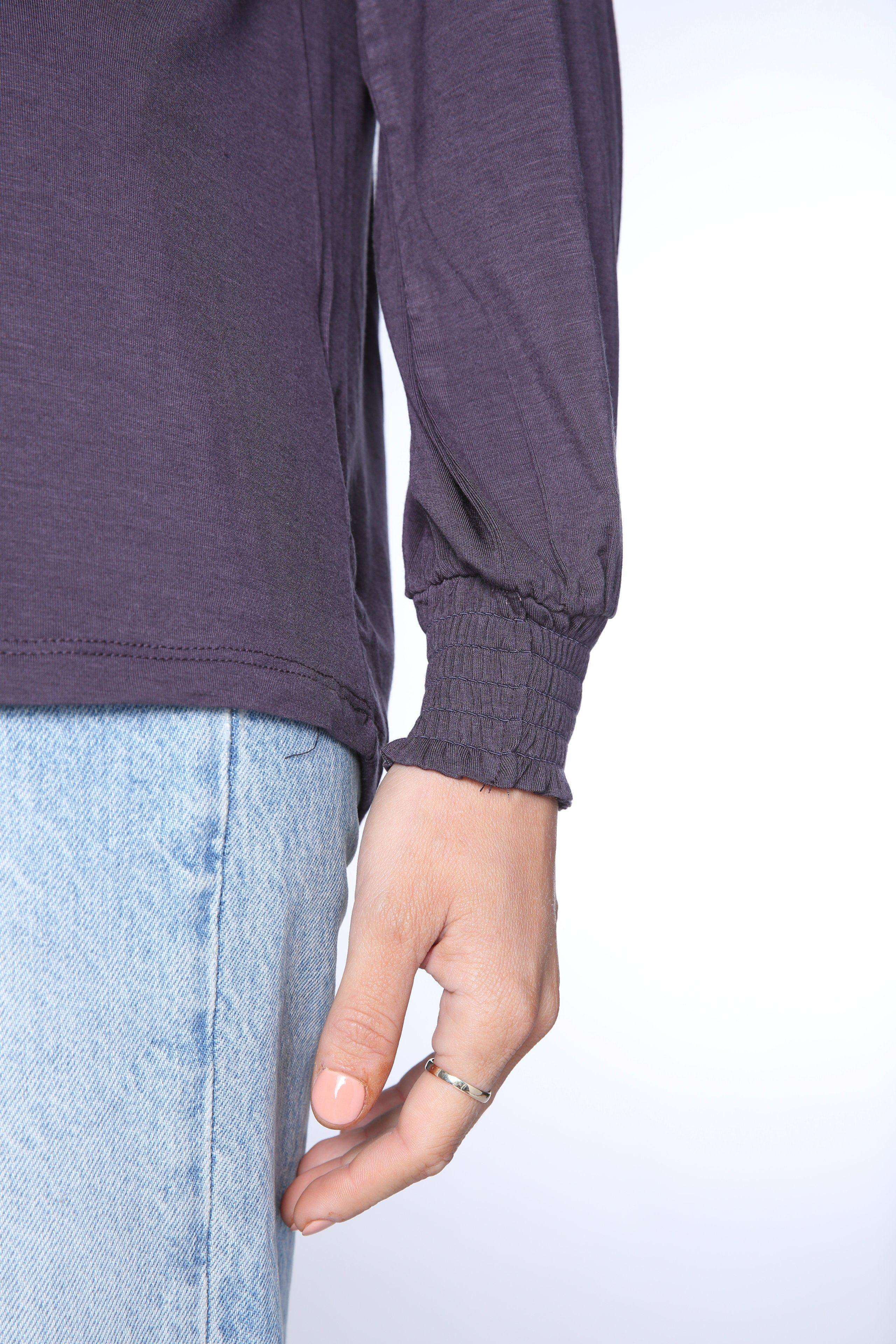 Ruched Gathered Long Sleeve Tee 9