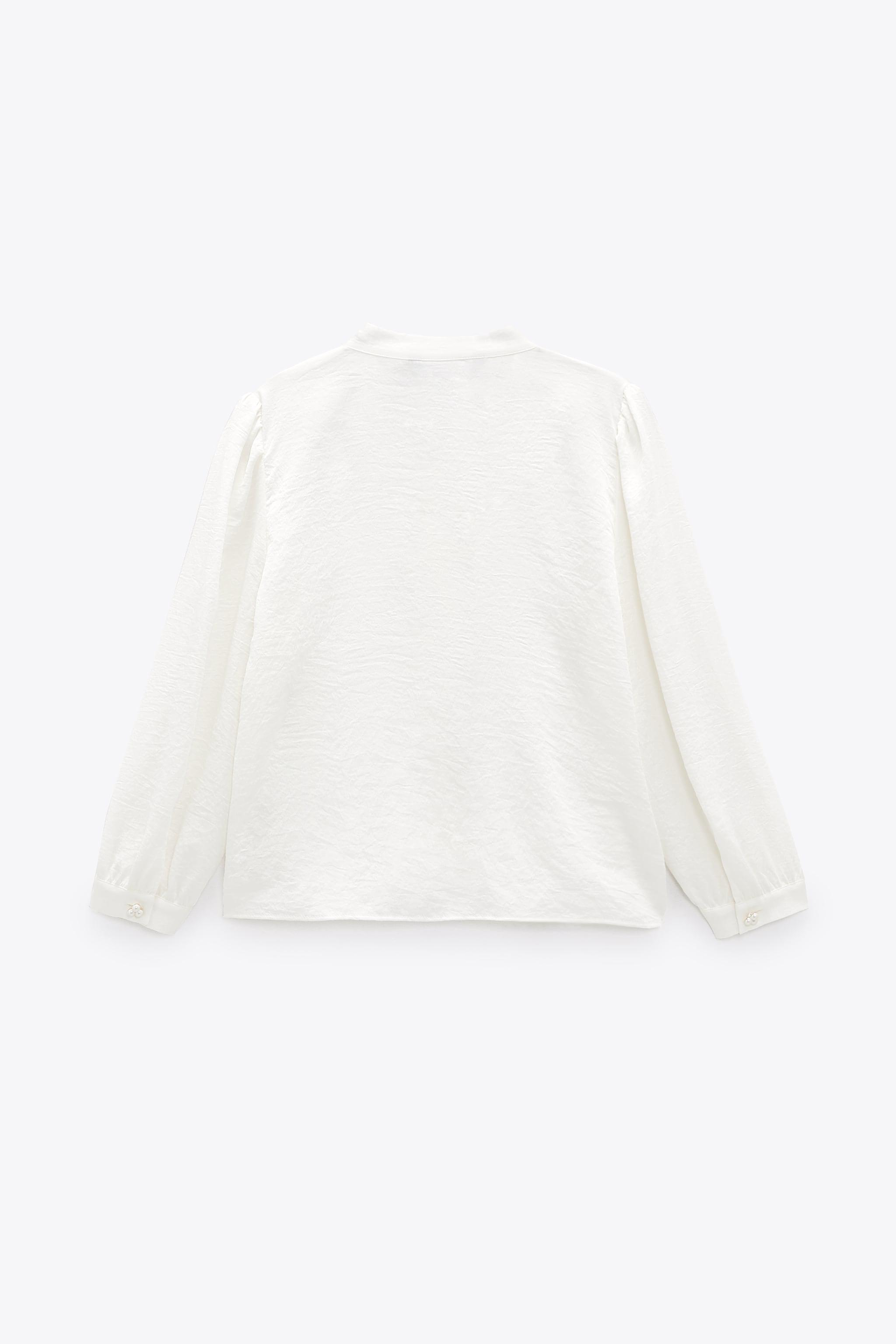 PEARL BUTTON BOW TOP 6