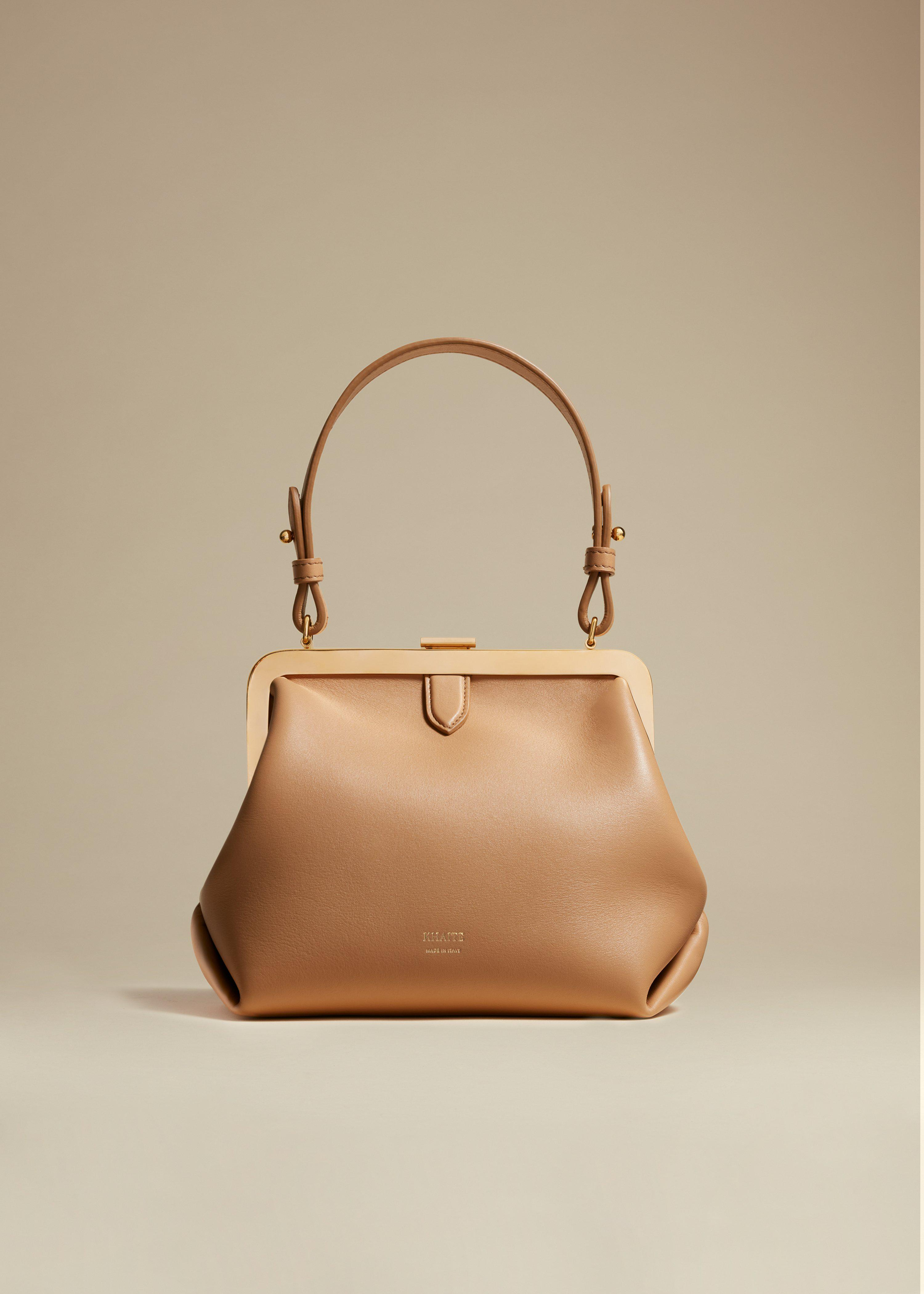 The Small Agnes Bag in Tan Leather