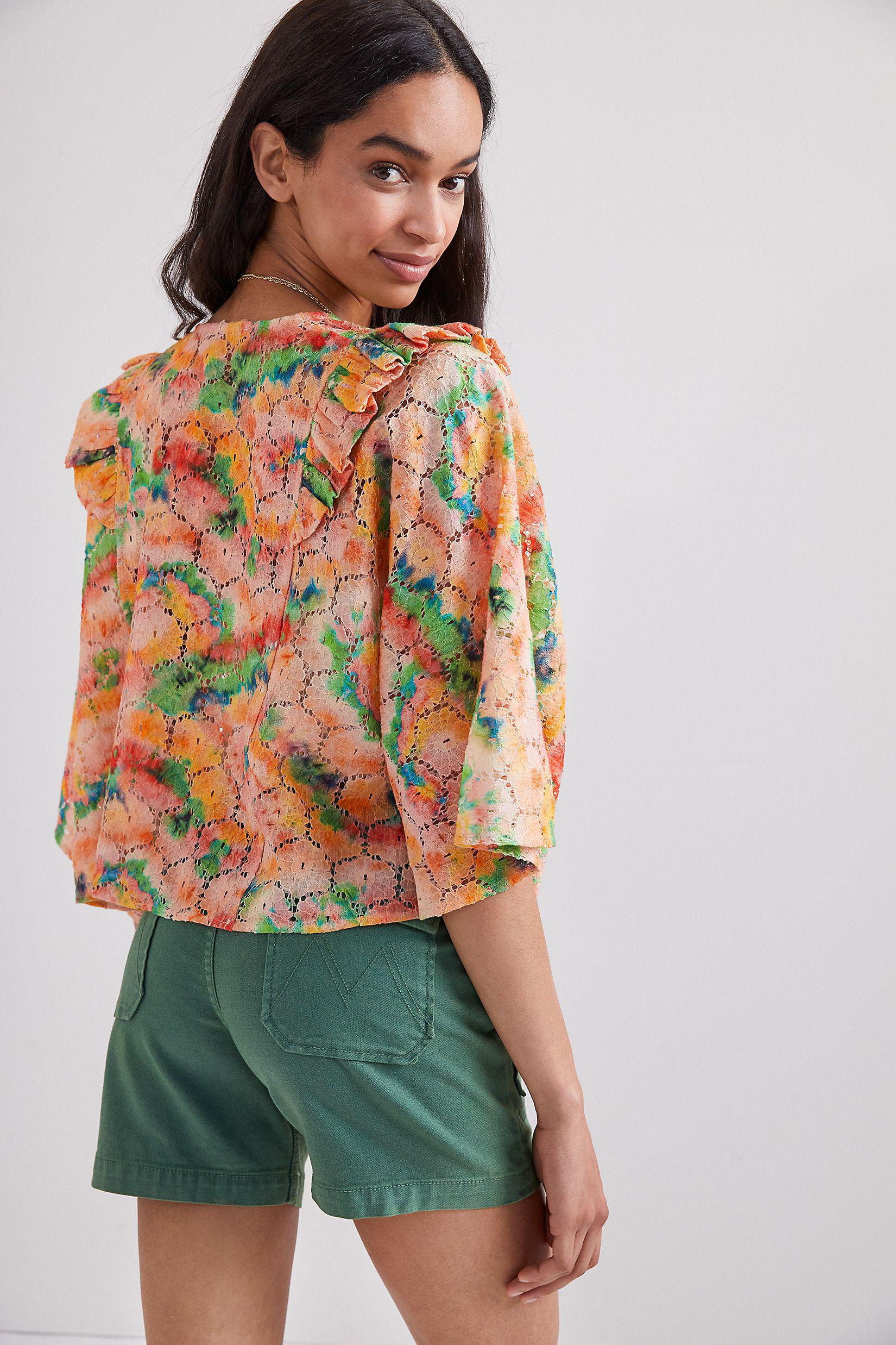 Cropped Floral Lace Shrug 1