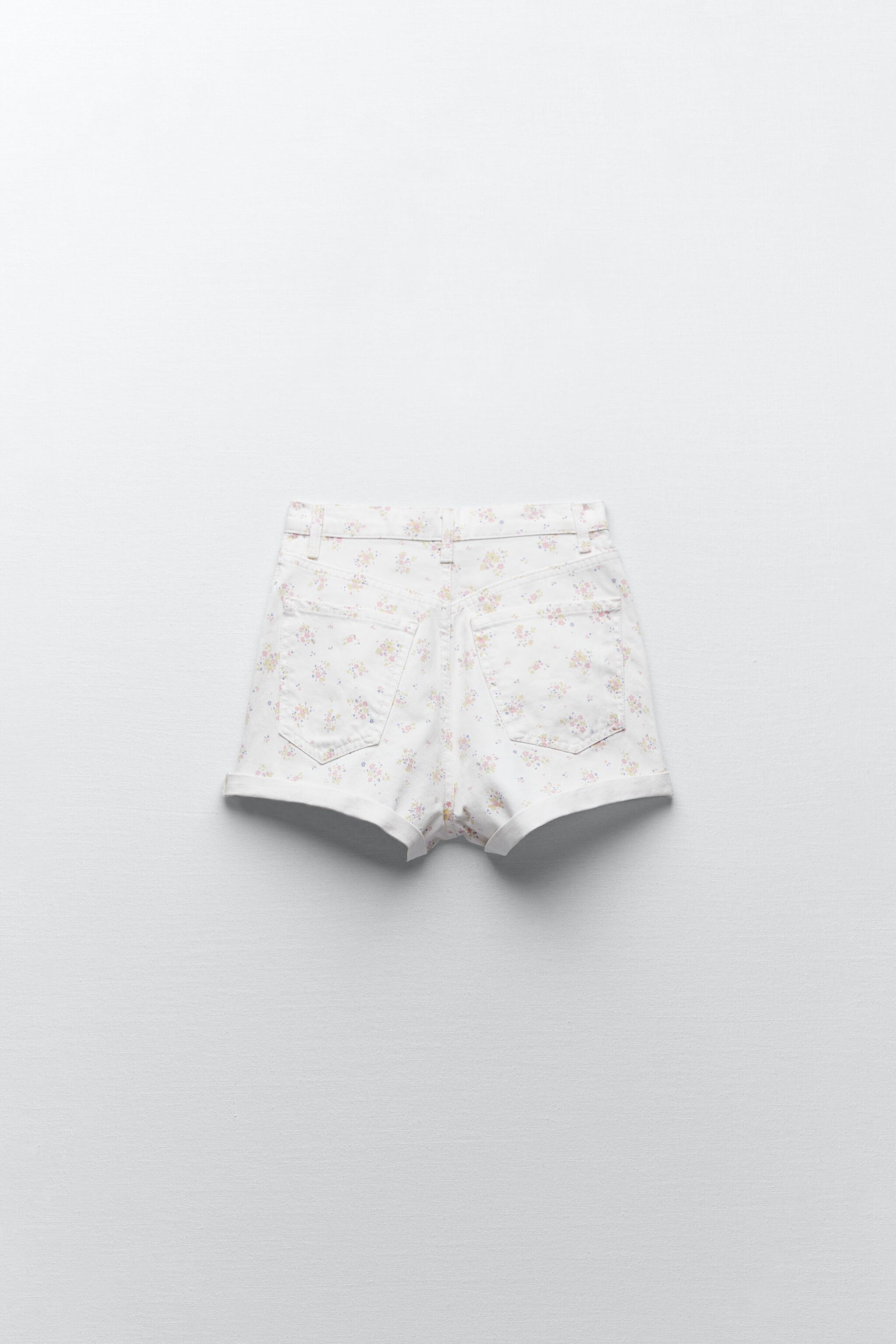 PRINTED MOM FIT ROLLER SHORTS 6